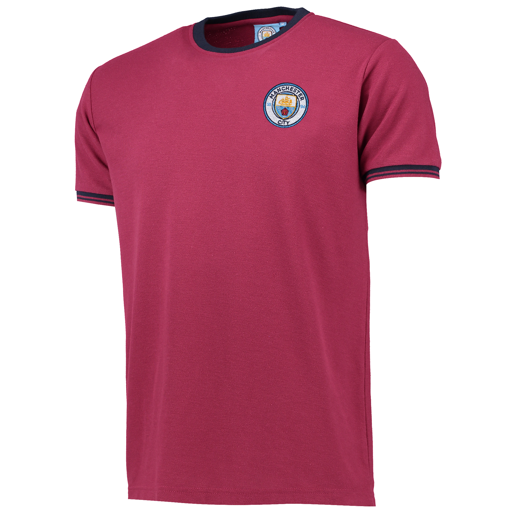 Manchester City Classic Pique T-Shirt - Maroon