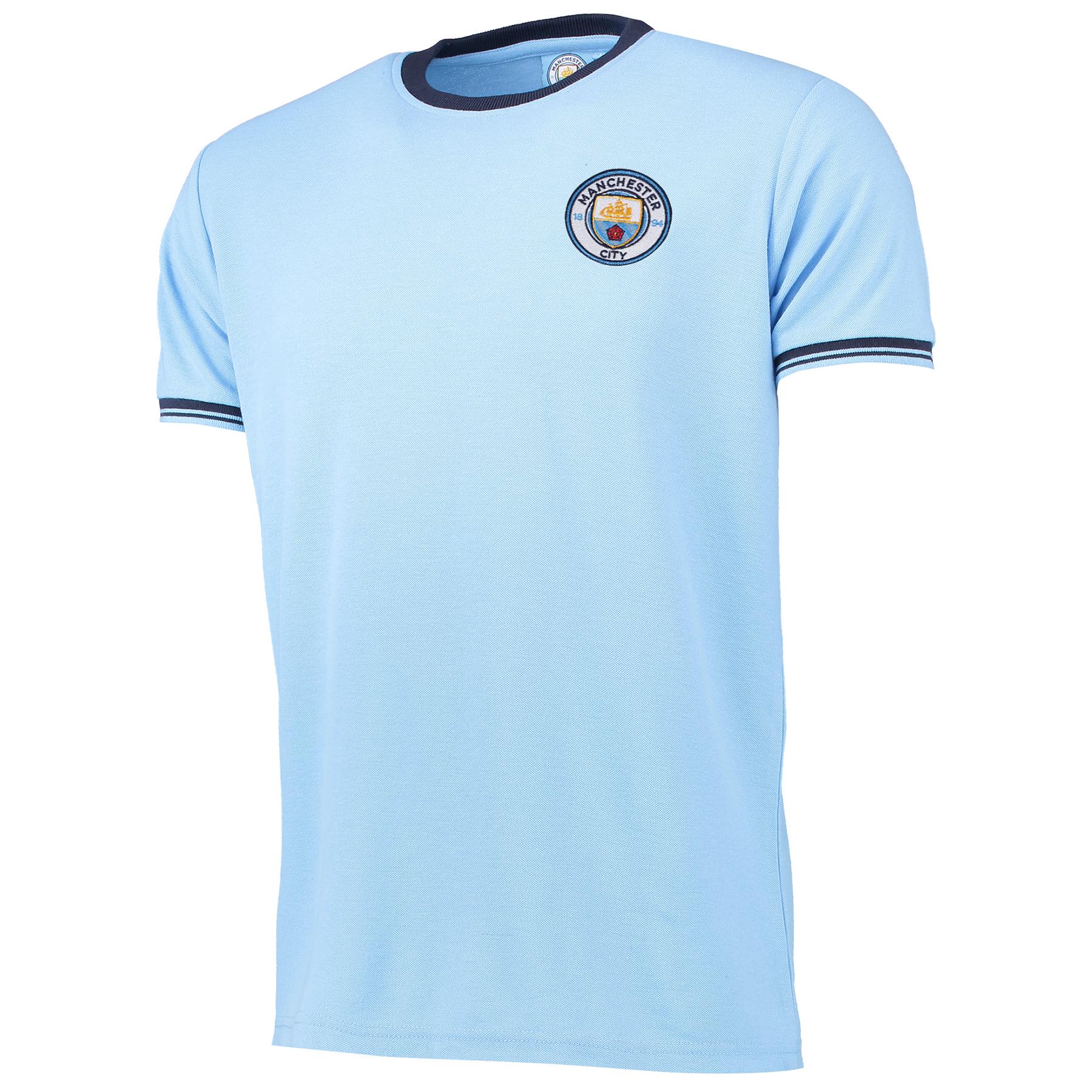 Manchester City Classic Pique T-Shirt - Sky