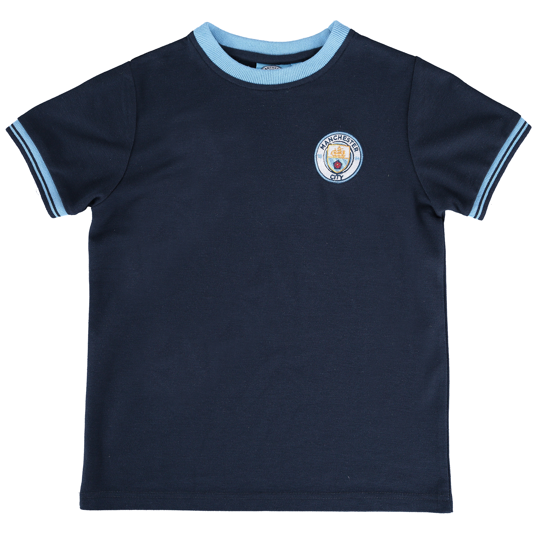 Manchester City Classic Pique T-Shirt - Navy - Junior