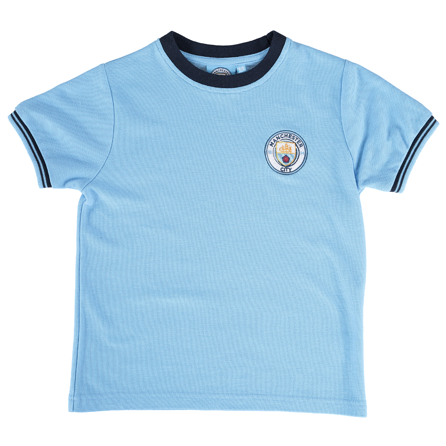 Manchester City Classic Pique T-Shirt - Sky - Junior