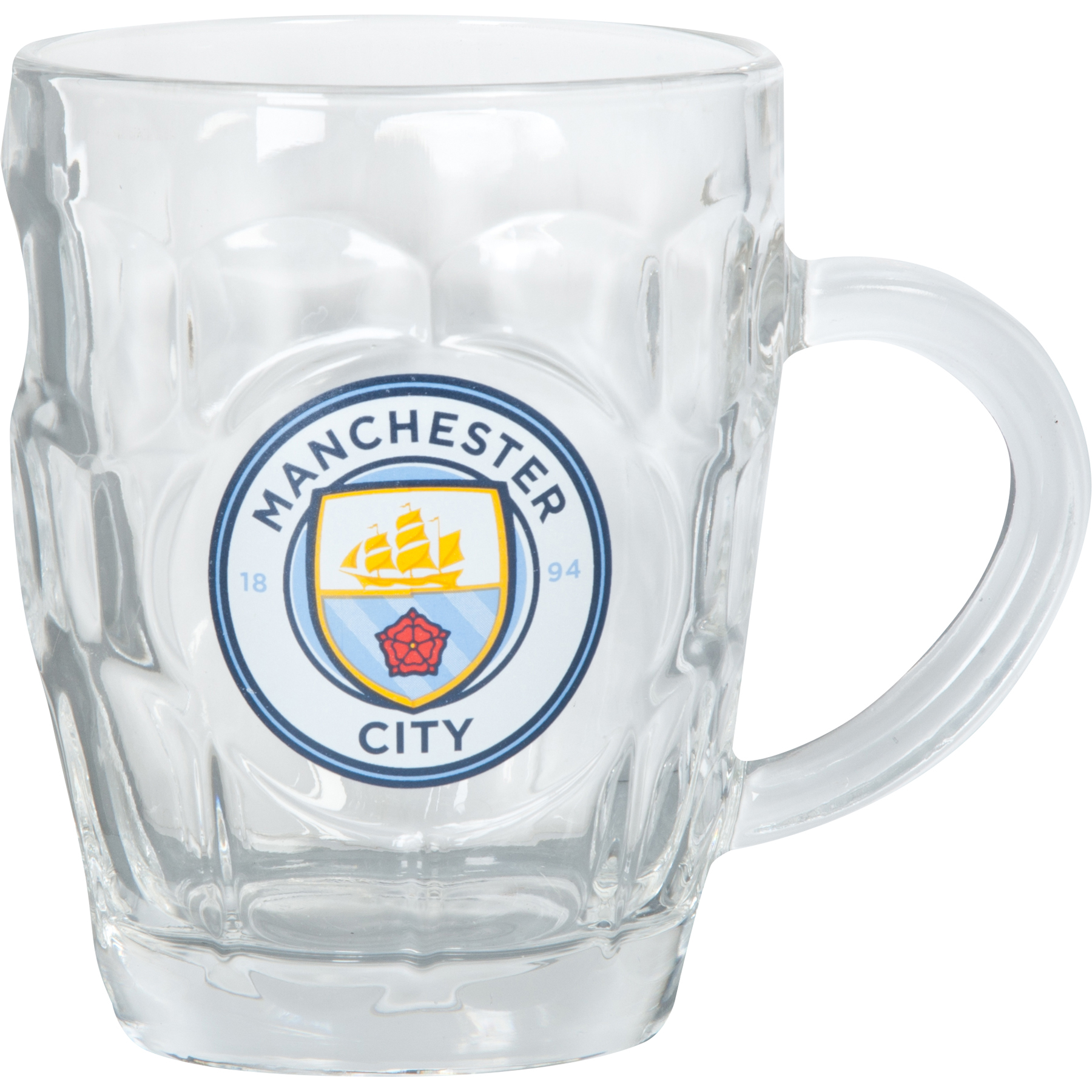 Manchester City Dimple Pint Glass