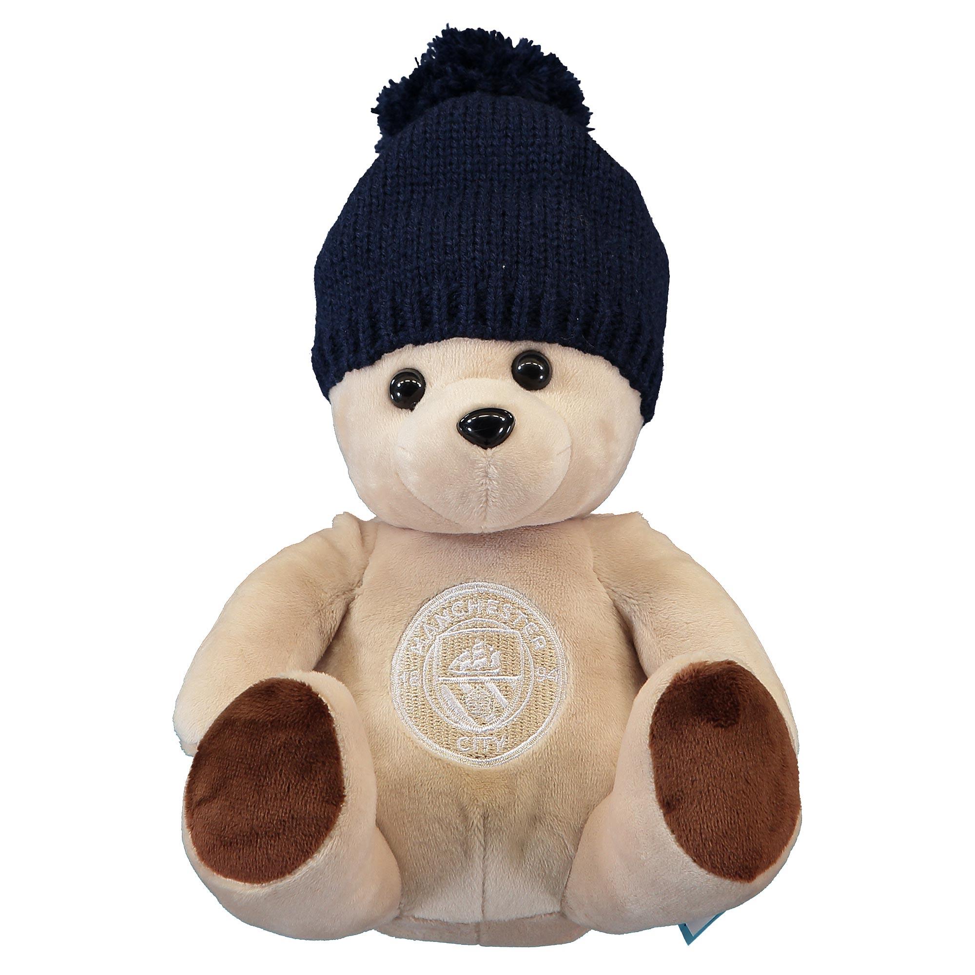 Ours avec bonnet Manchester City