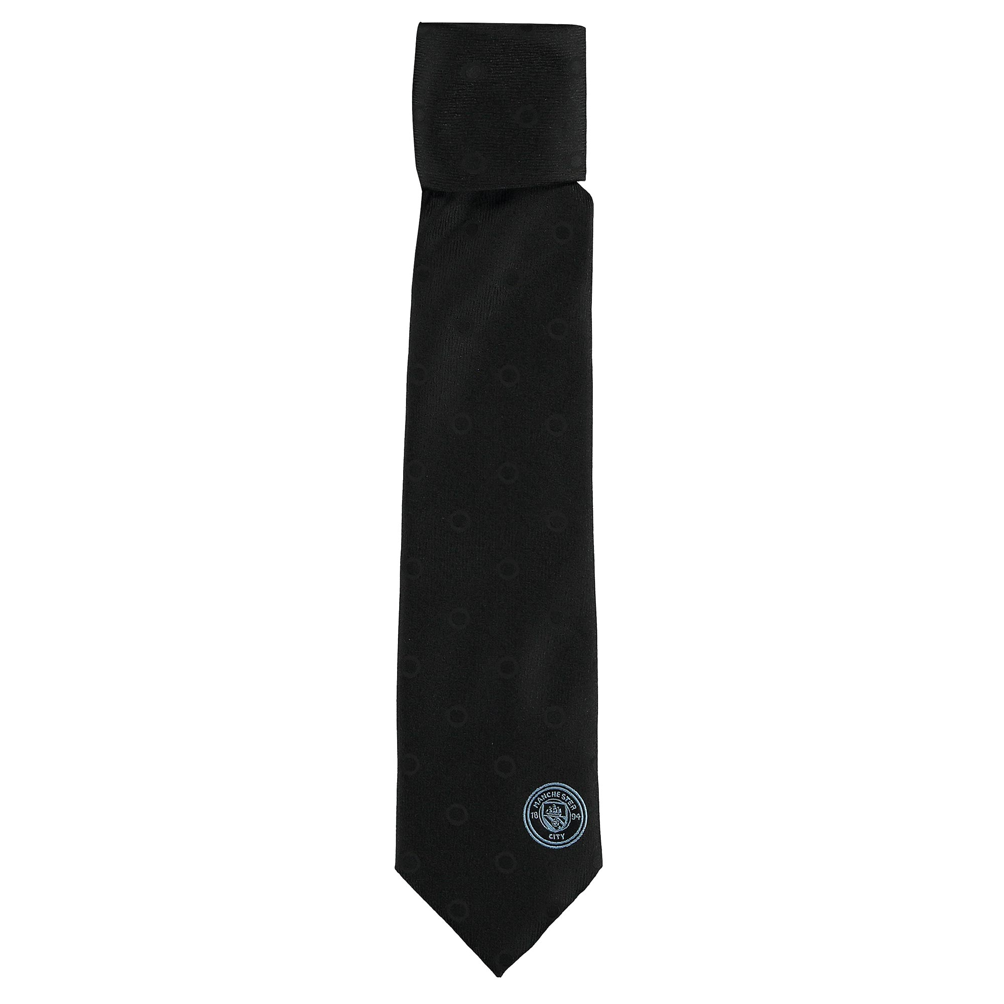 Manchester City Polyester Tie - Black
