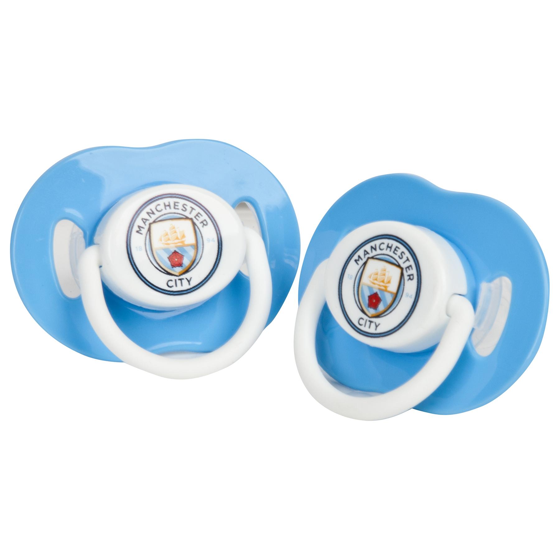 Chupetes del Manchester City - Paquete con 2 unidades