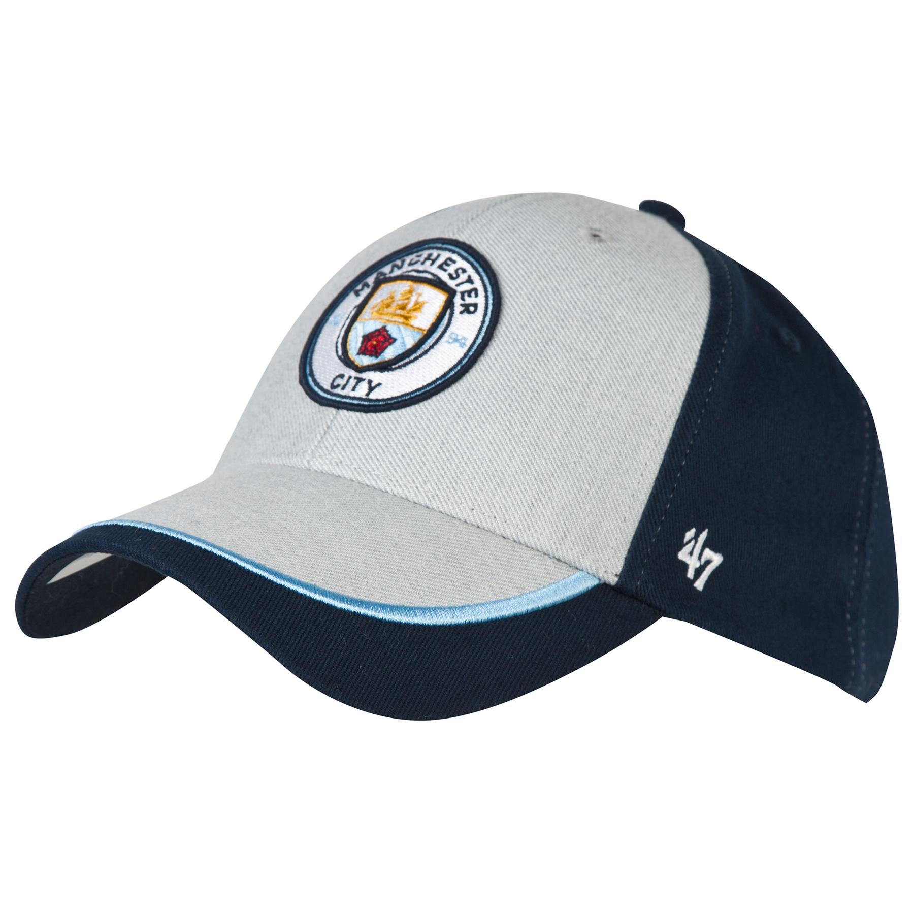 Manchester City 47Brand MVP Gabro Cap - Grey/Navy