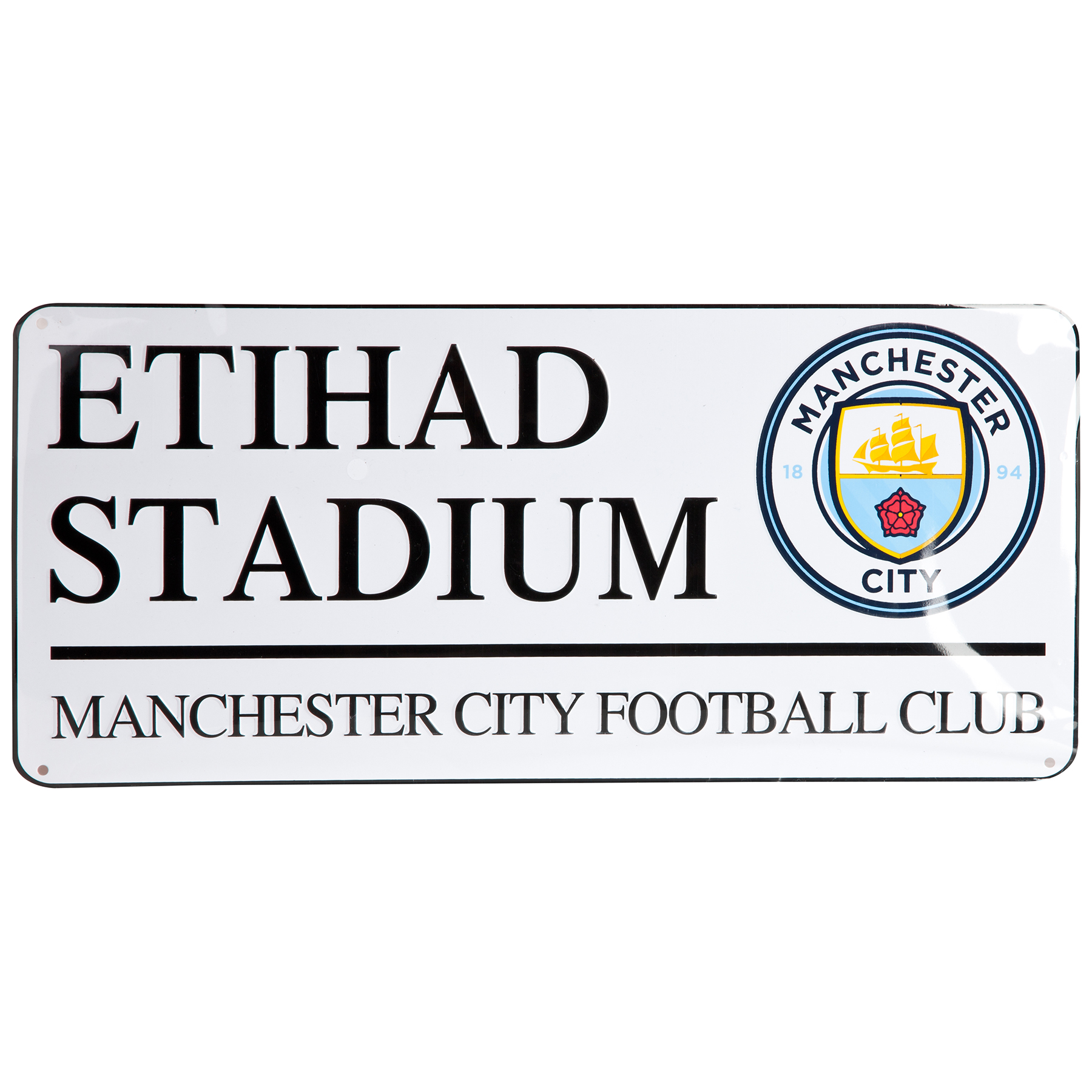 Manchester City Street Sign 18 x 40 cm