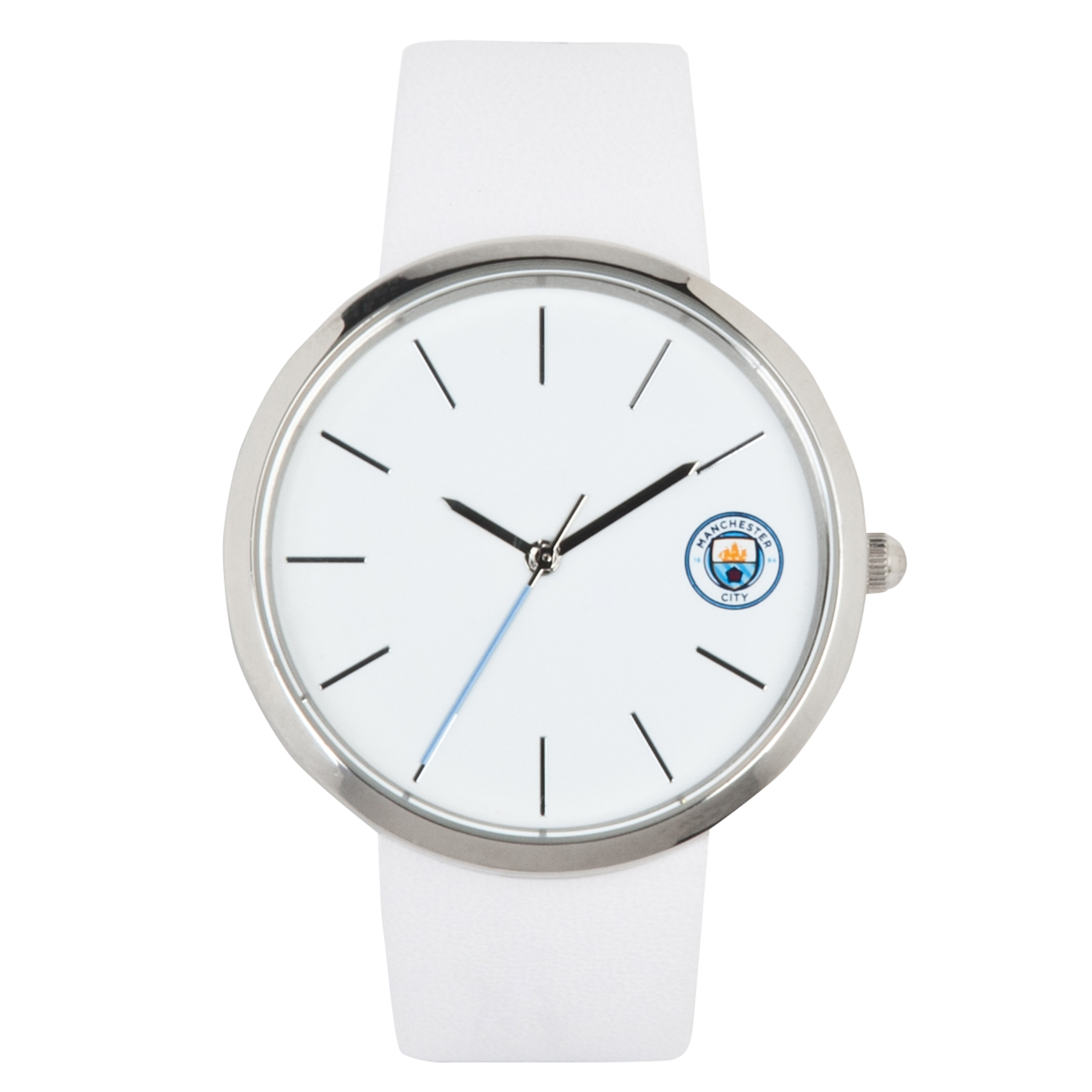 Manchester City Leather Strap Watch - Ladies