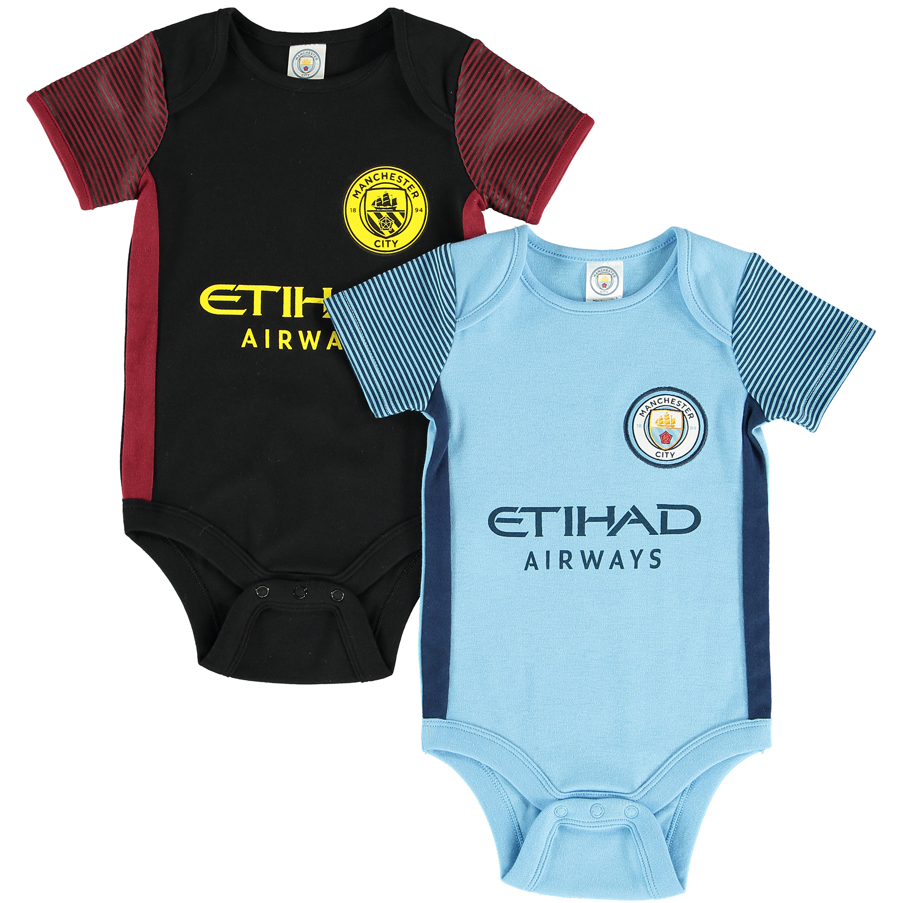 Manchester City Kit 2 Pack Bodysuit - Baby