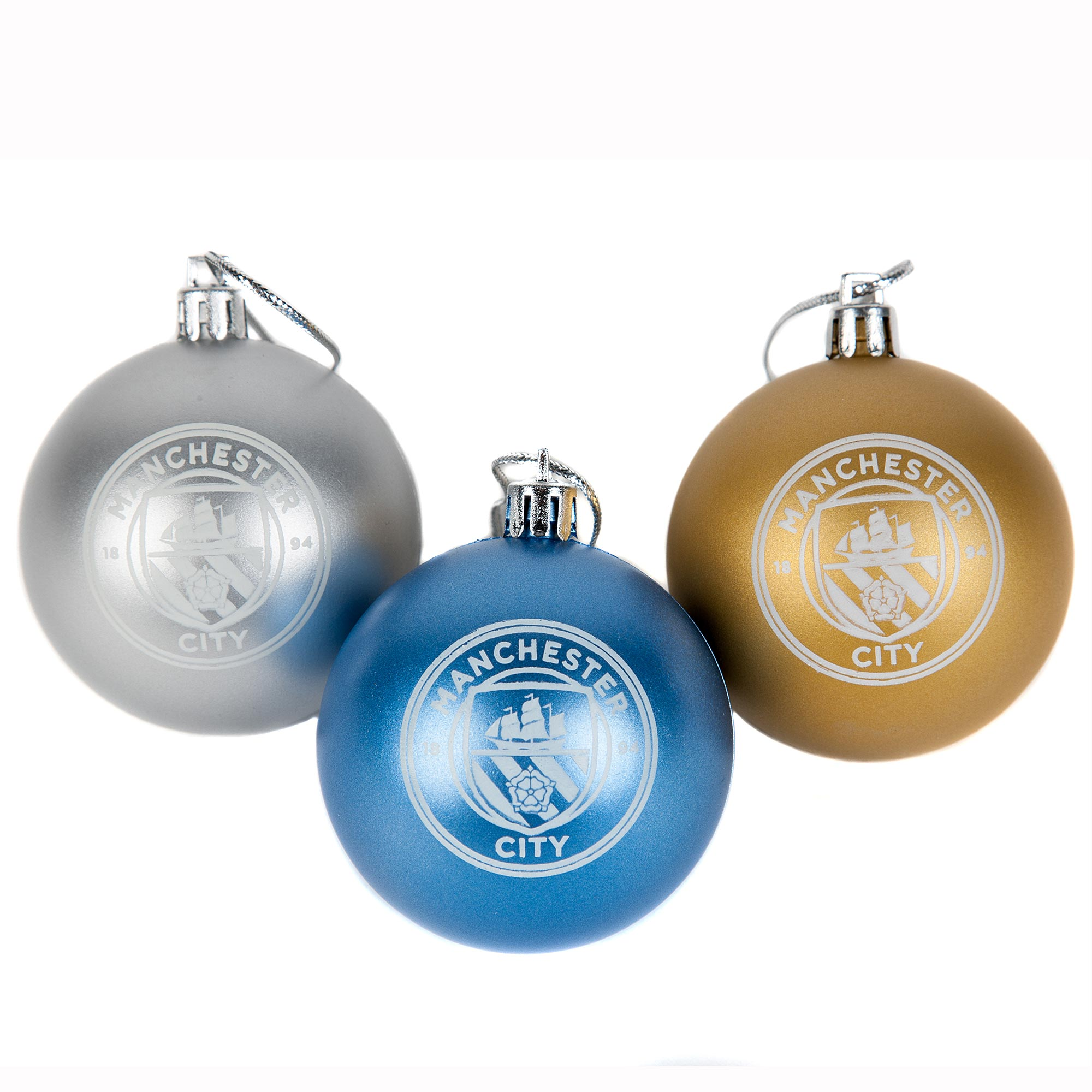 Manchester City Bauble Set - 3 Pack
