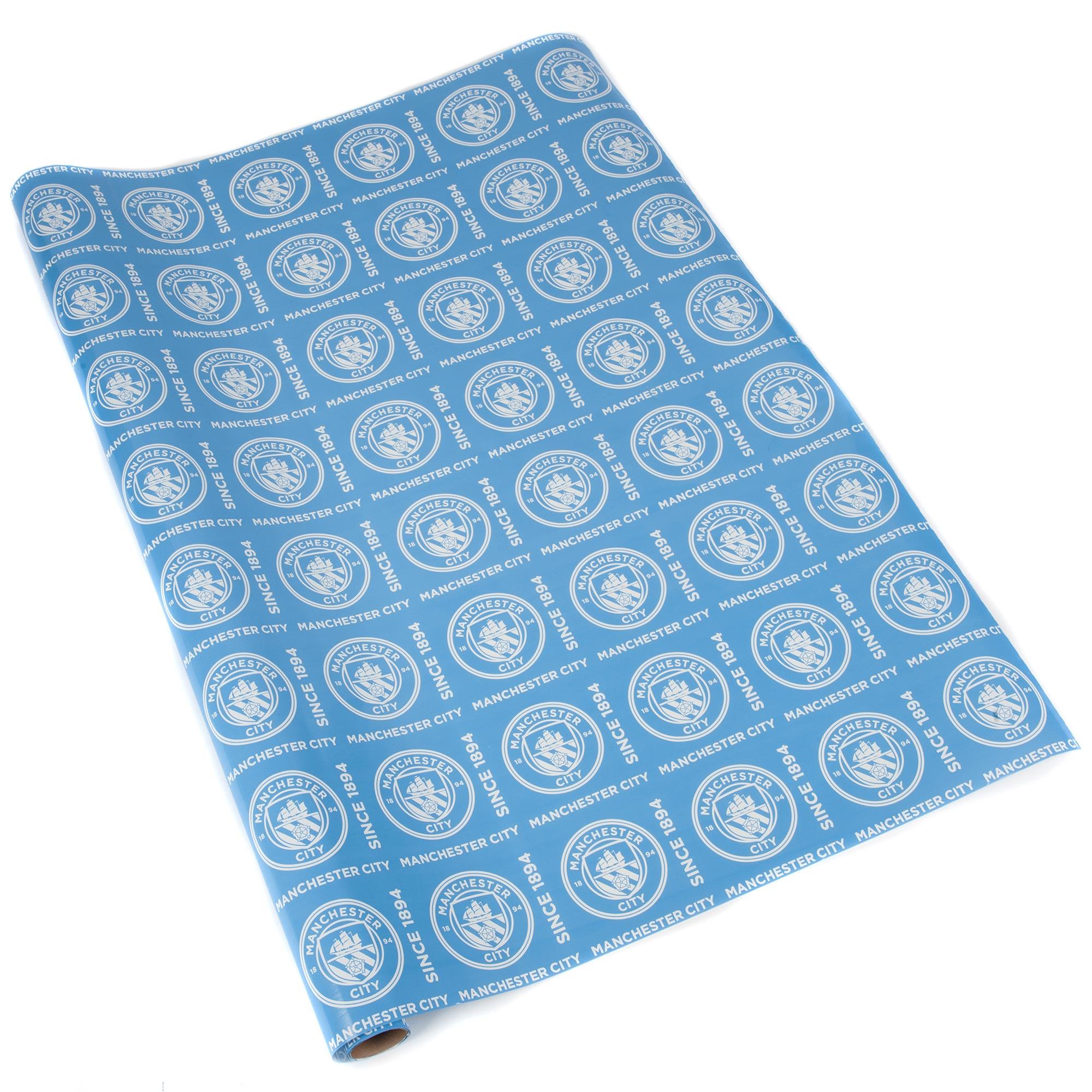 Manchester City Gift Wrap - 75 x 240cm
