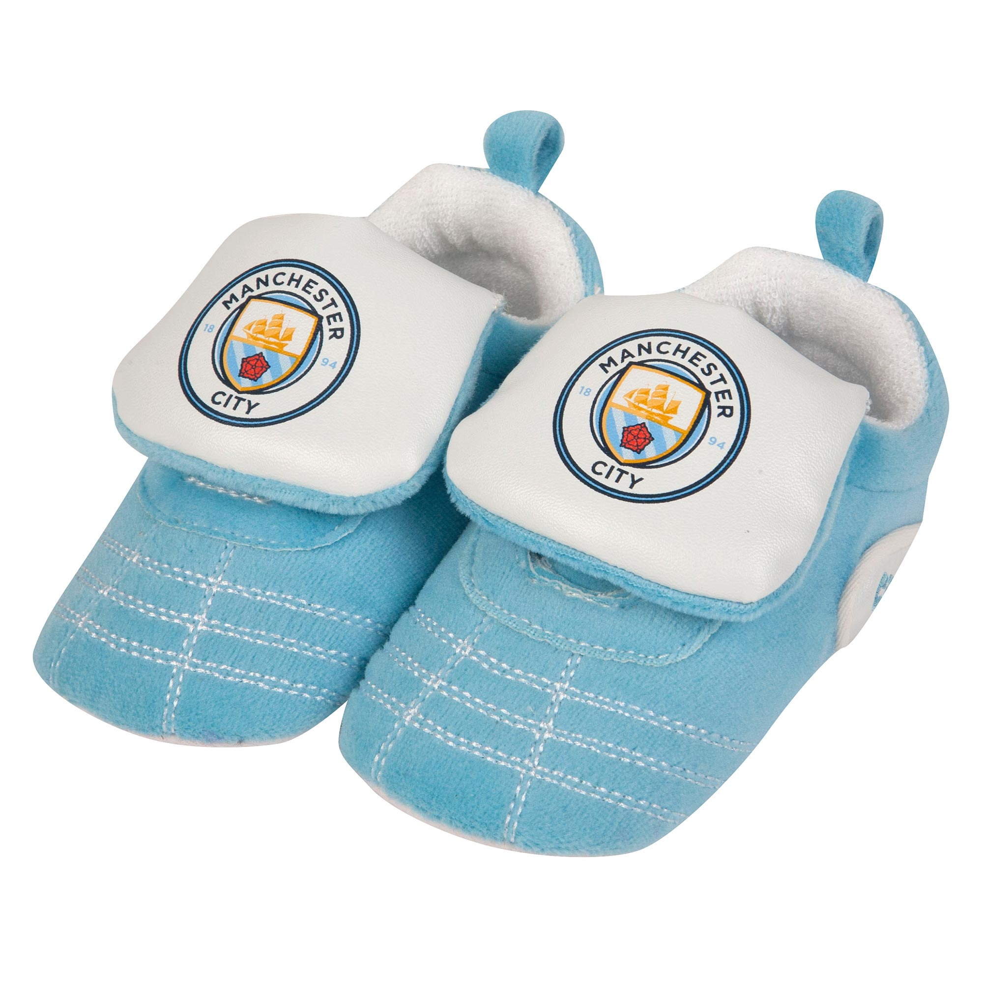 Manchester City Trainer Boot Crib - Sky/White - Baby