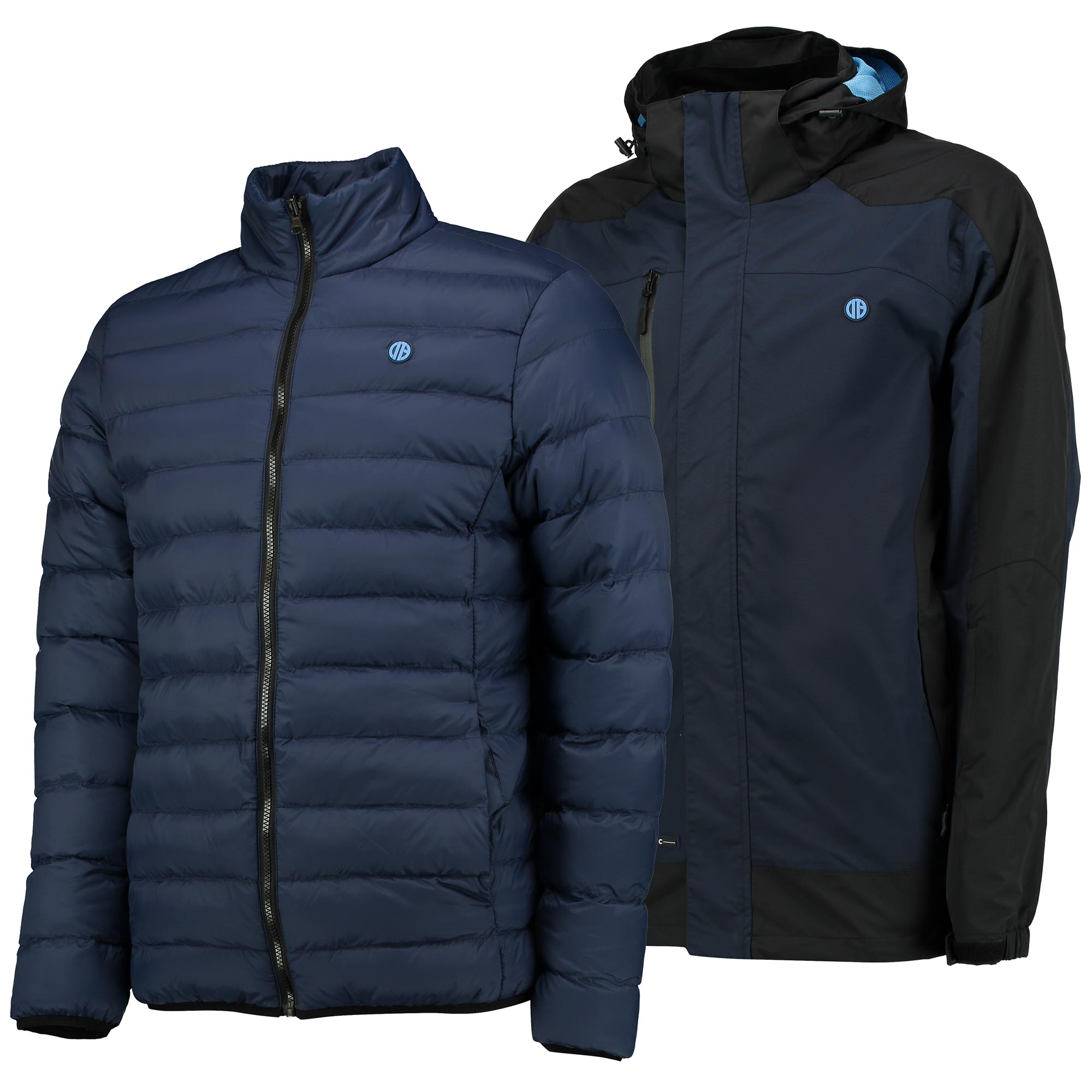 Manchester City Terrace 3 in 1 Jacket - Navy/Charcoal