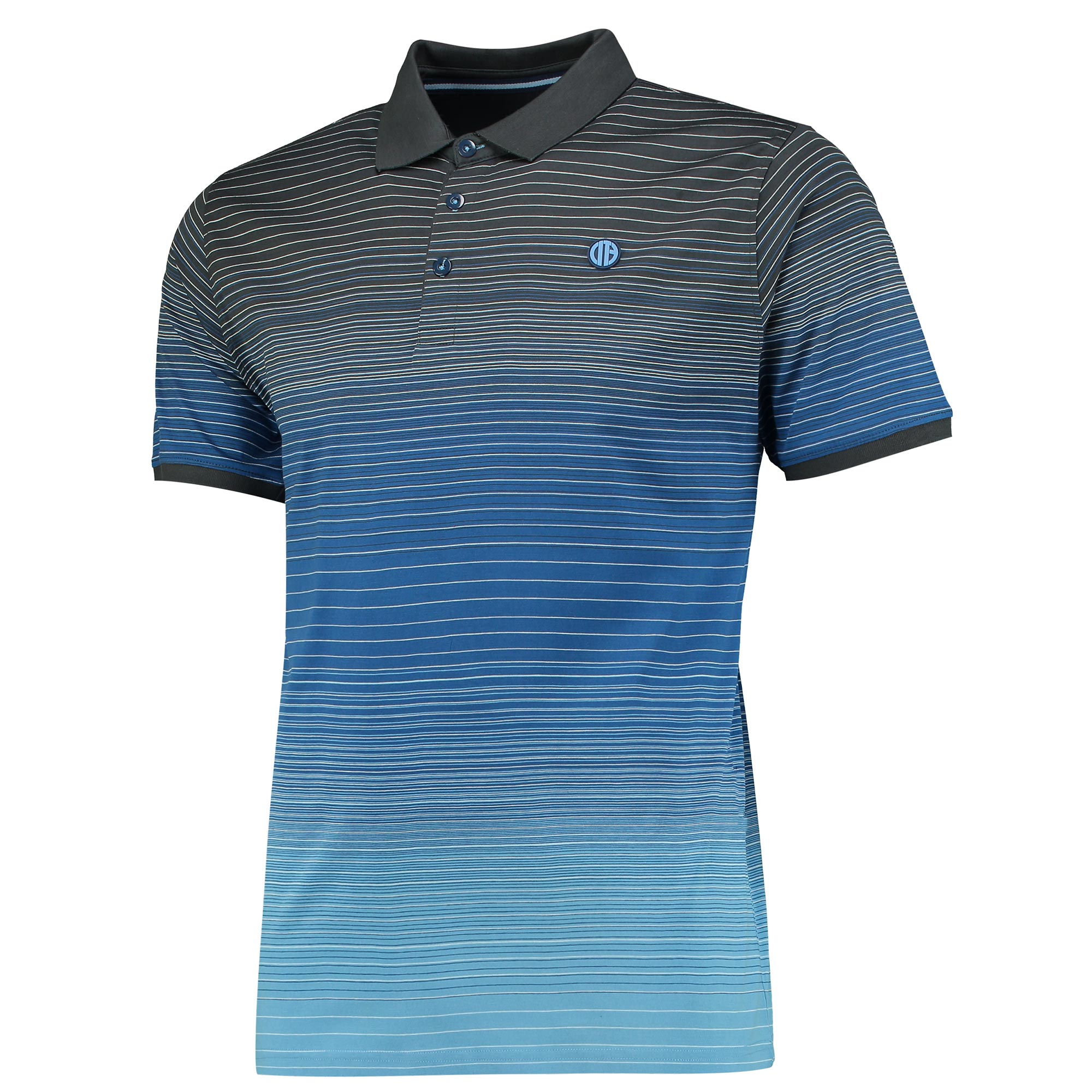 Manchester City Terrace Gradient Polo - Navy/Charcoal