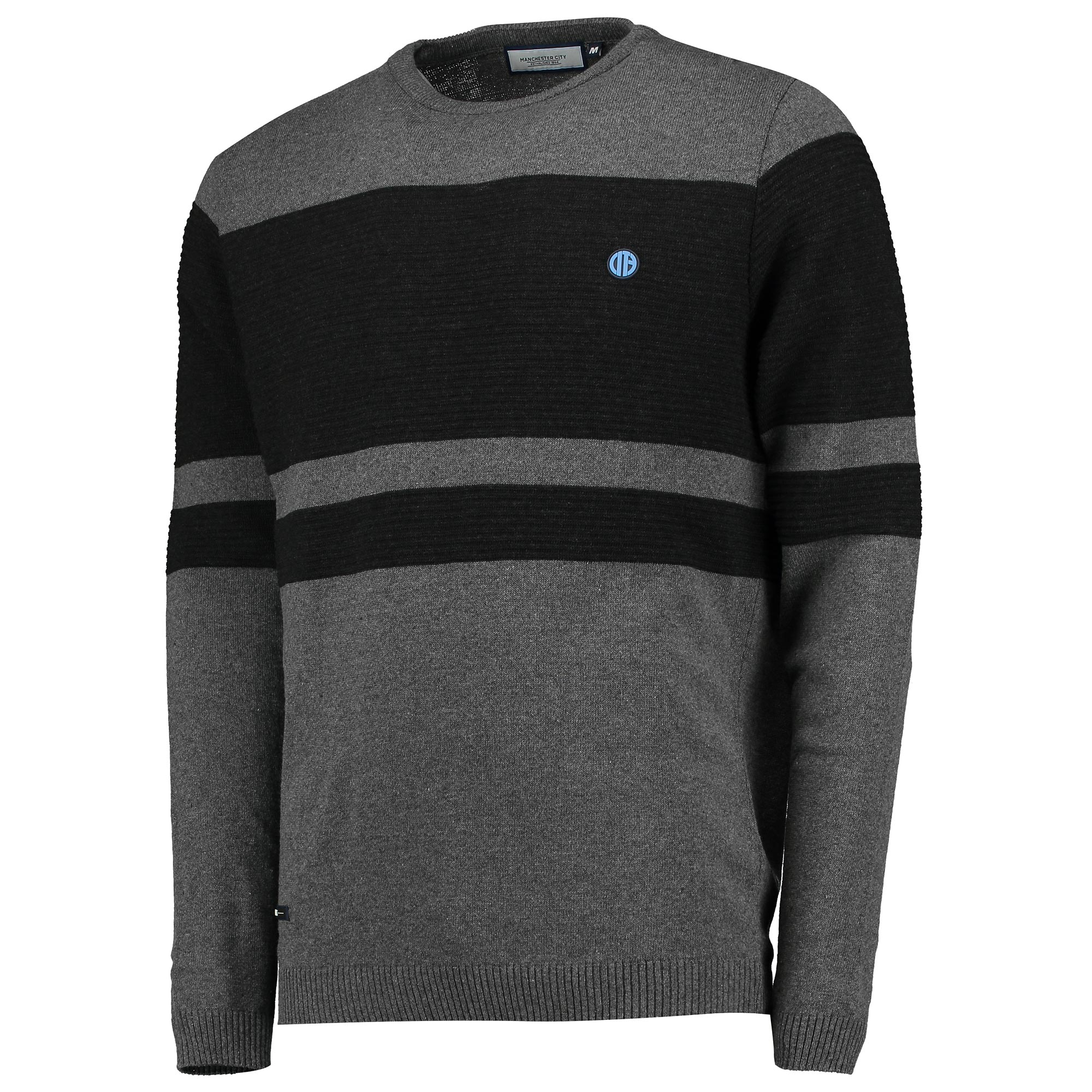 Manchester City Terrace Knit Jumper - Charcoal