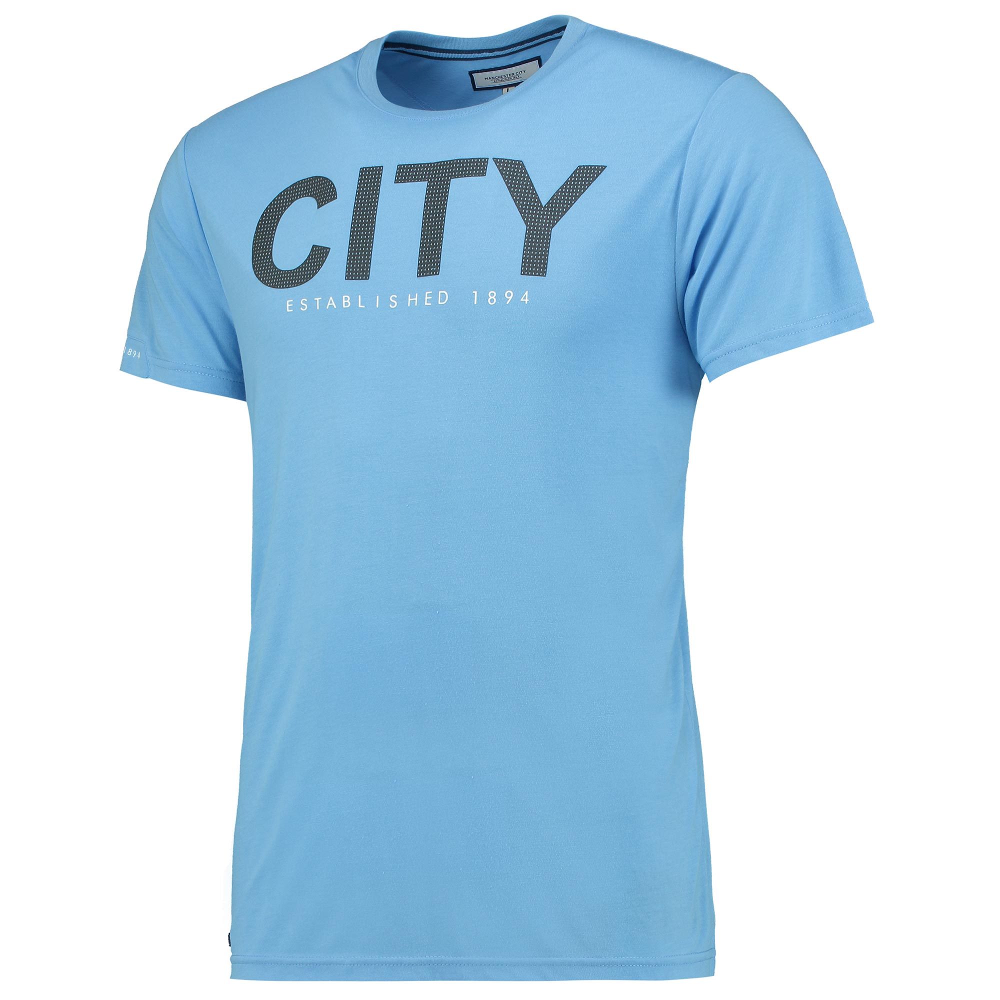Manchester City Terrace Mesh Print T-Shirt - Sky