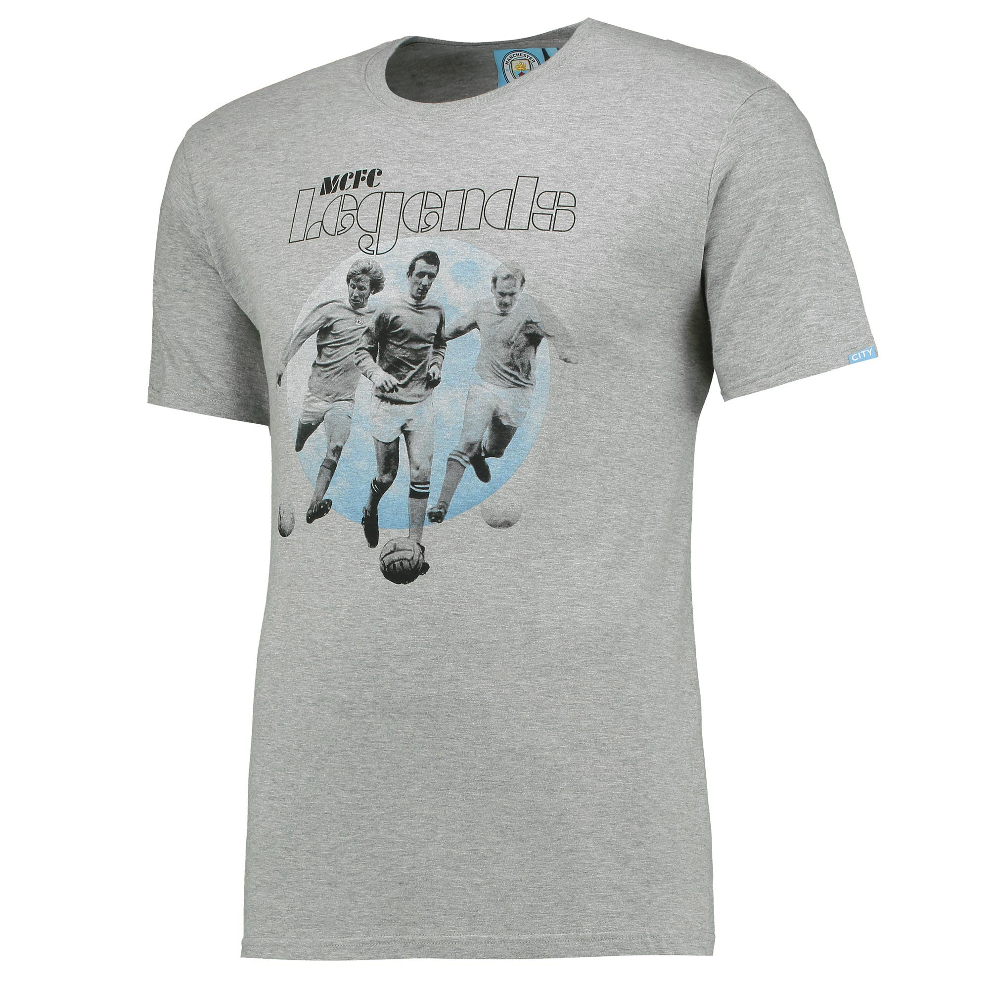 Manchester City Legends T-Shirt - Grey Marl