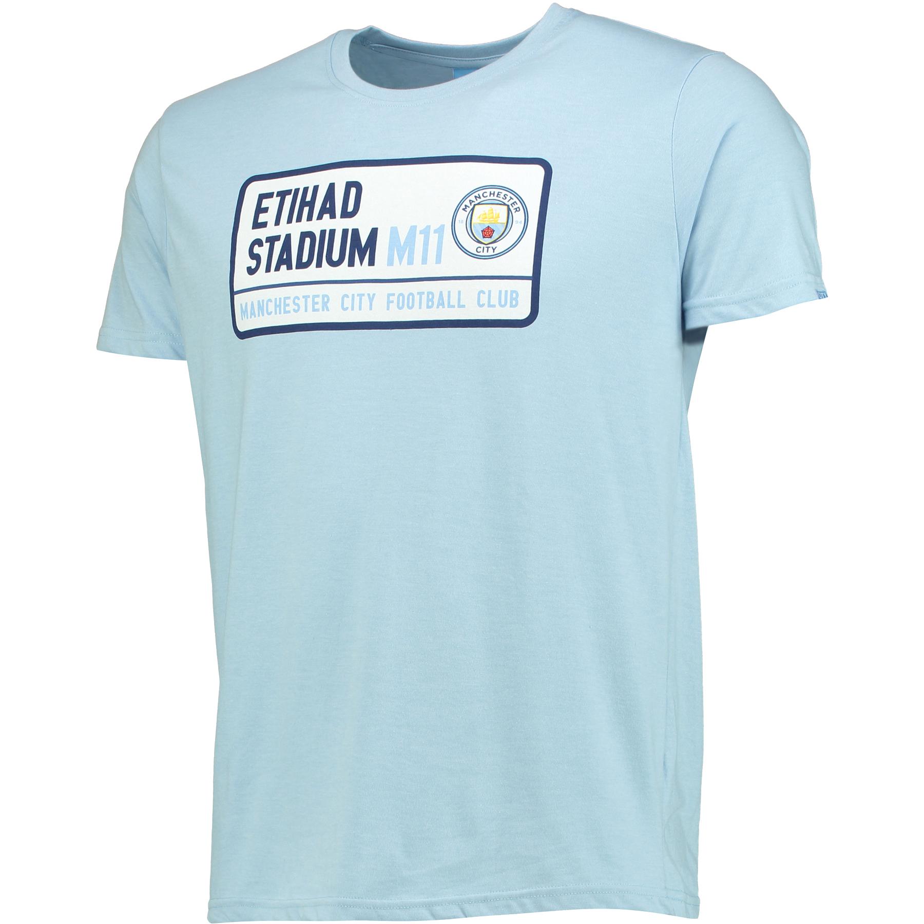 Manchester City Street Sign T-Shirt - Sky Marl