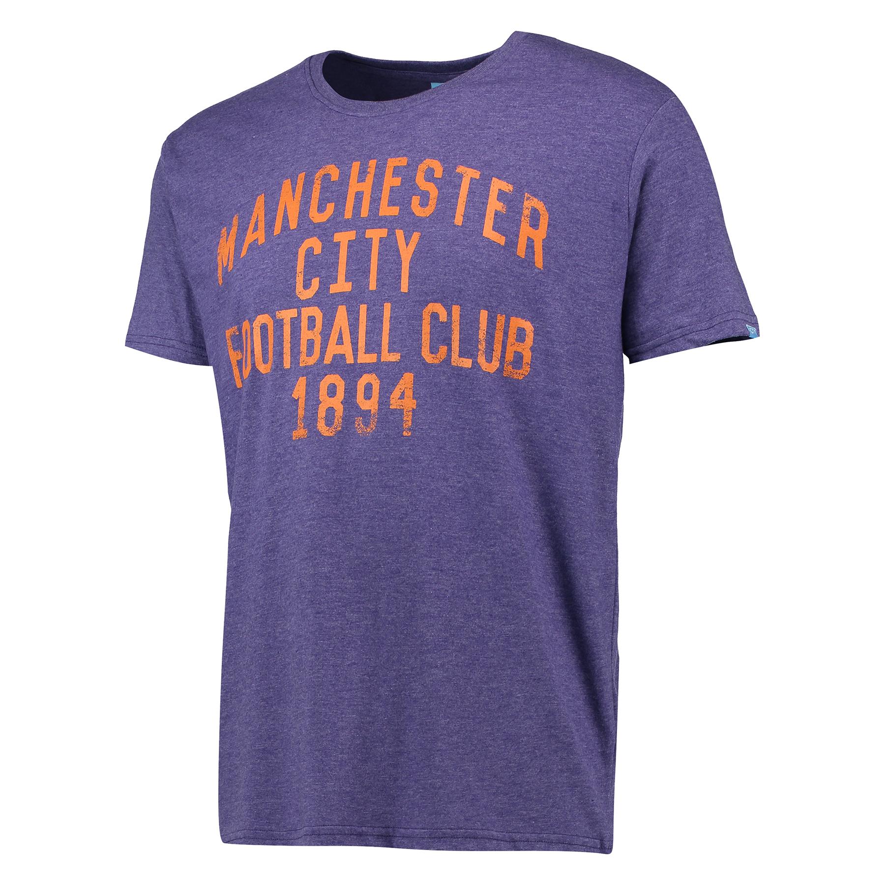 Manchester City Text T-Shirt - Purple