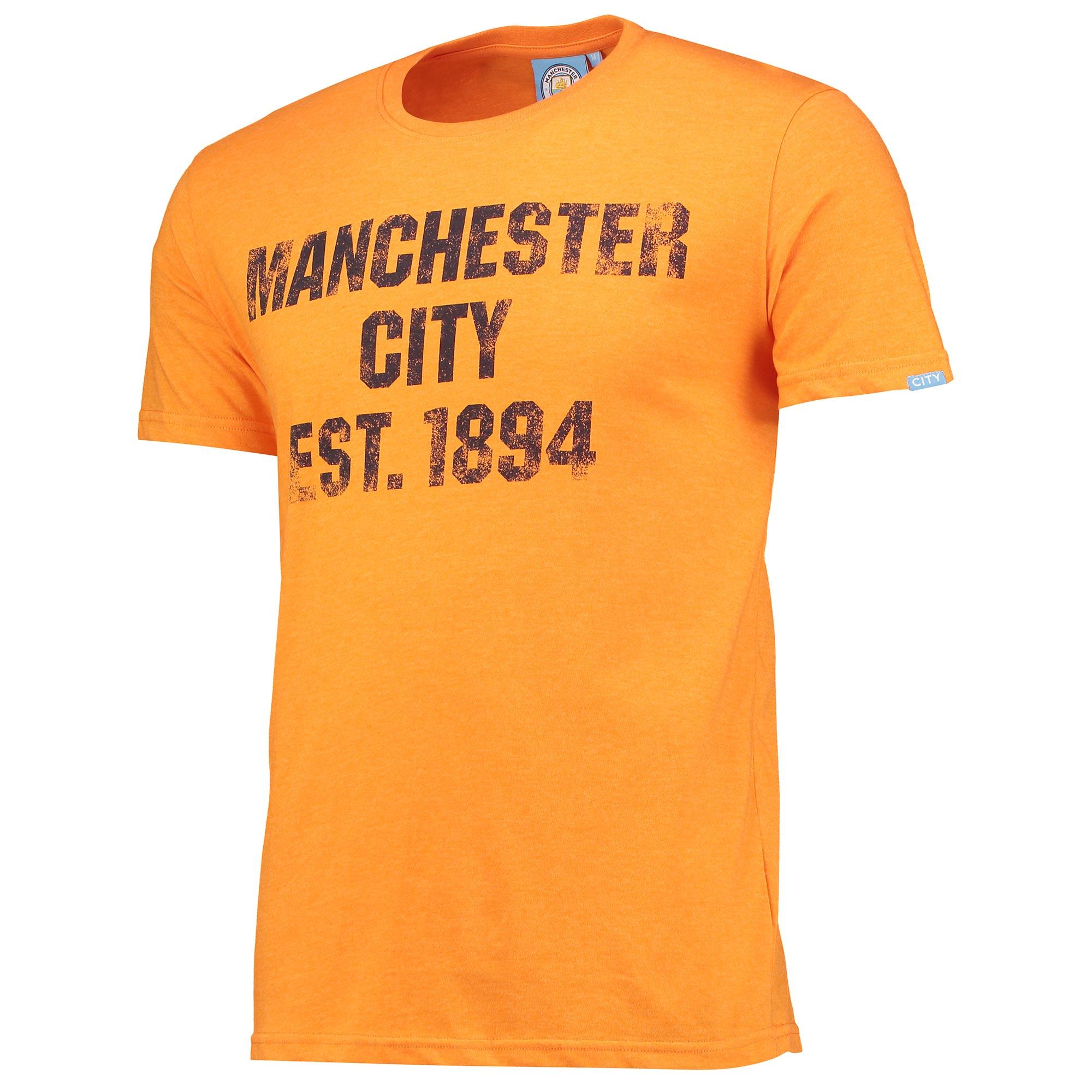 Manchester City Est T-Shirt - Orange