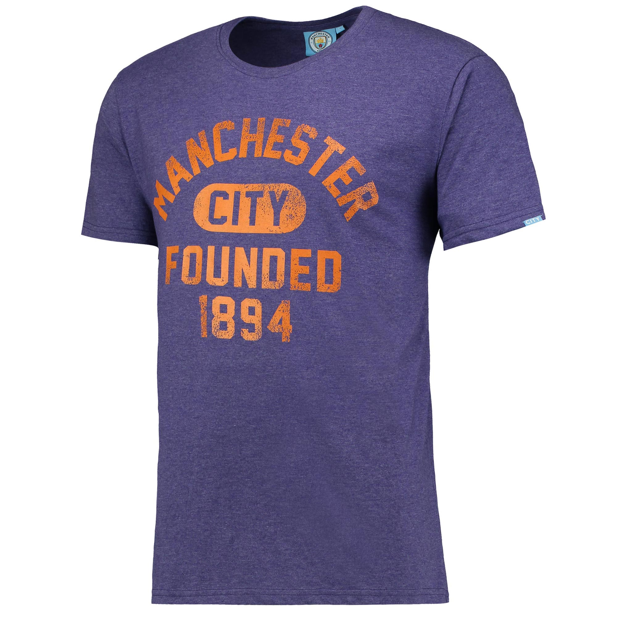 Manchester City Founded T-Shirt - Purple