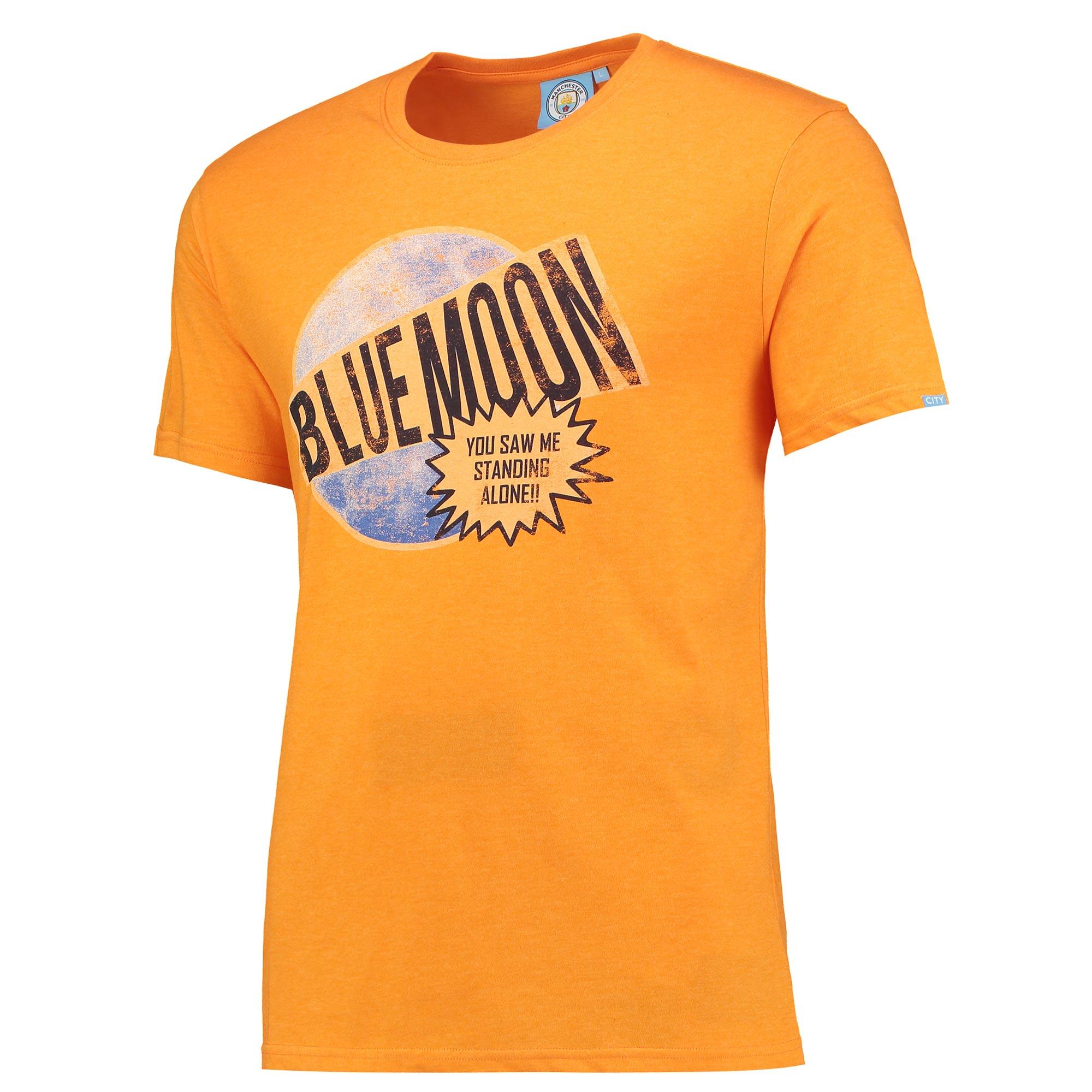 Manchester City Blue Moon T-Shirt - Orange - Junior