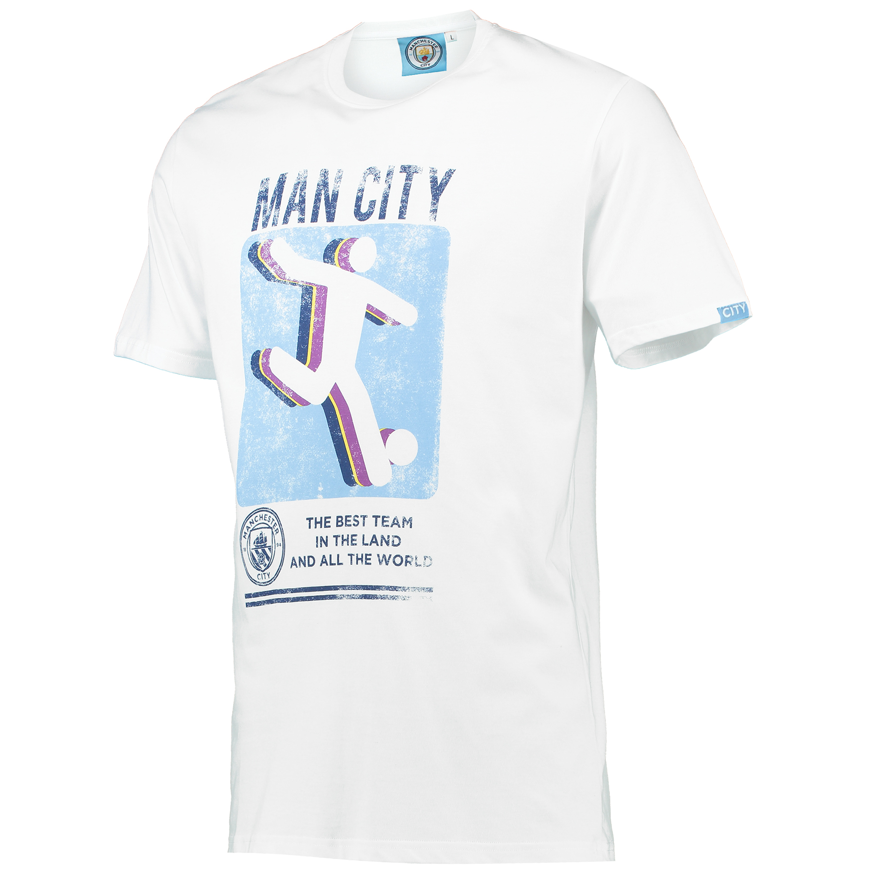 Manchester City Kick T-Shirt - White