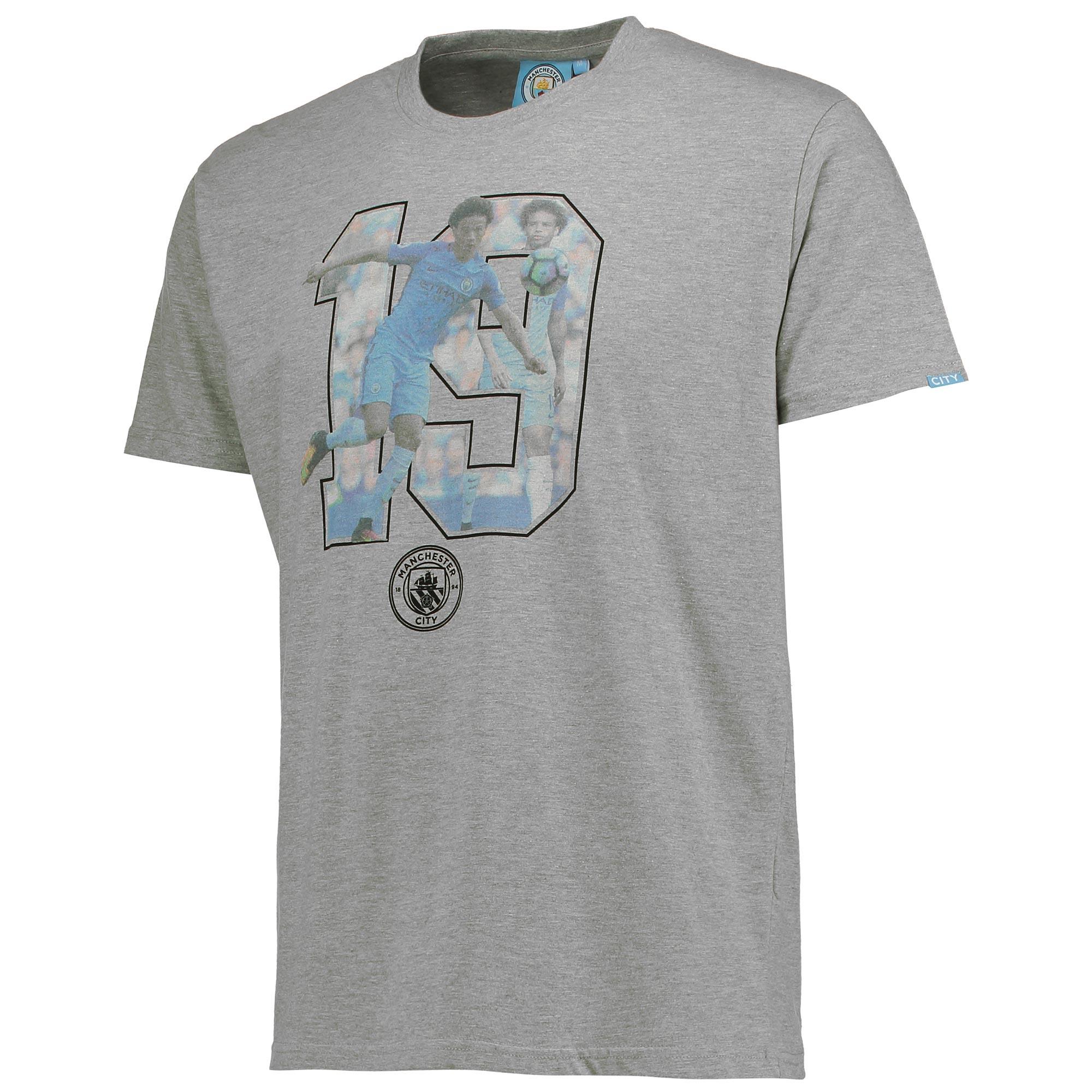 Manchester City Sane T-Shirt - Grey Marl