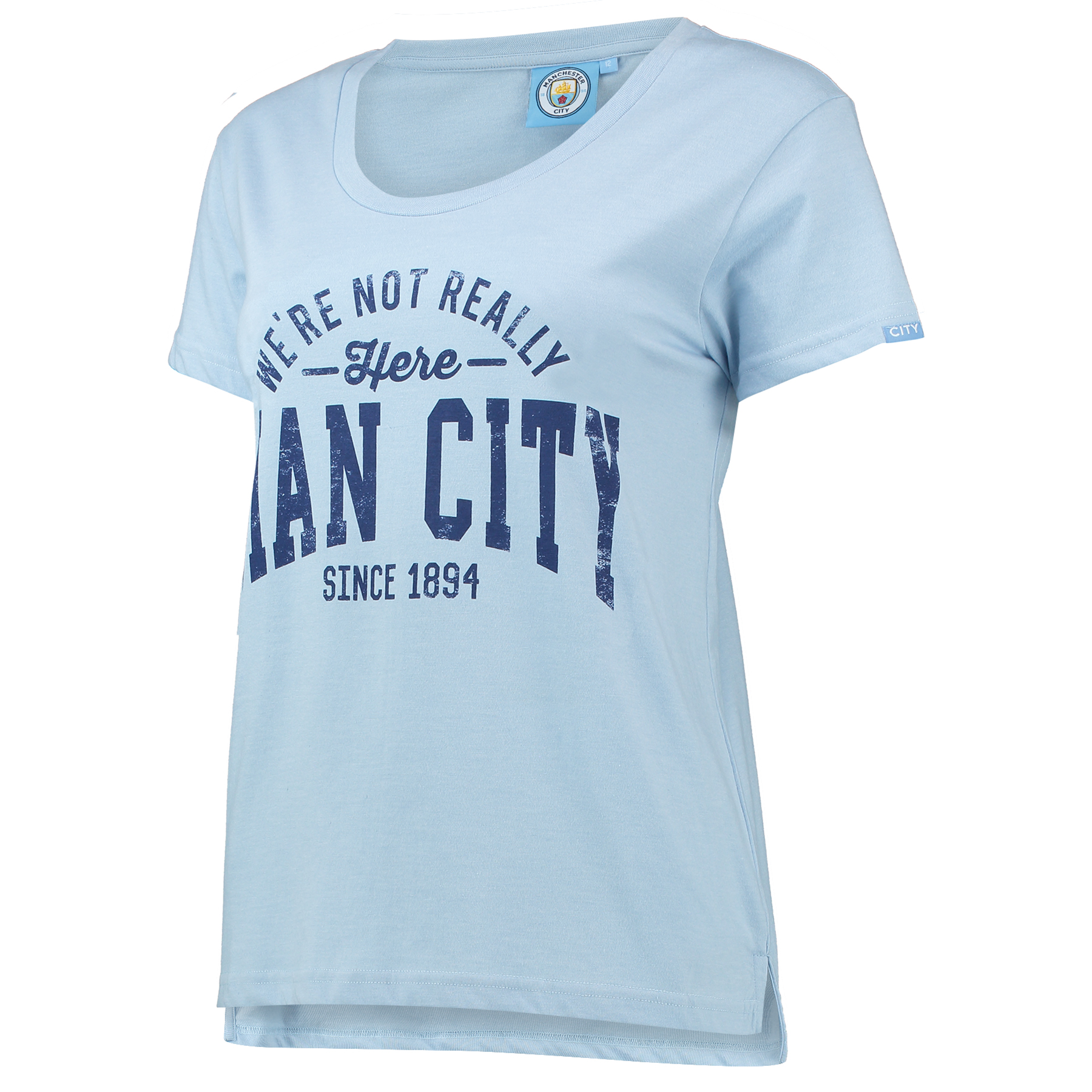Manchester City Here T-Shirt - Sky Marl - Womens