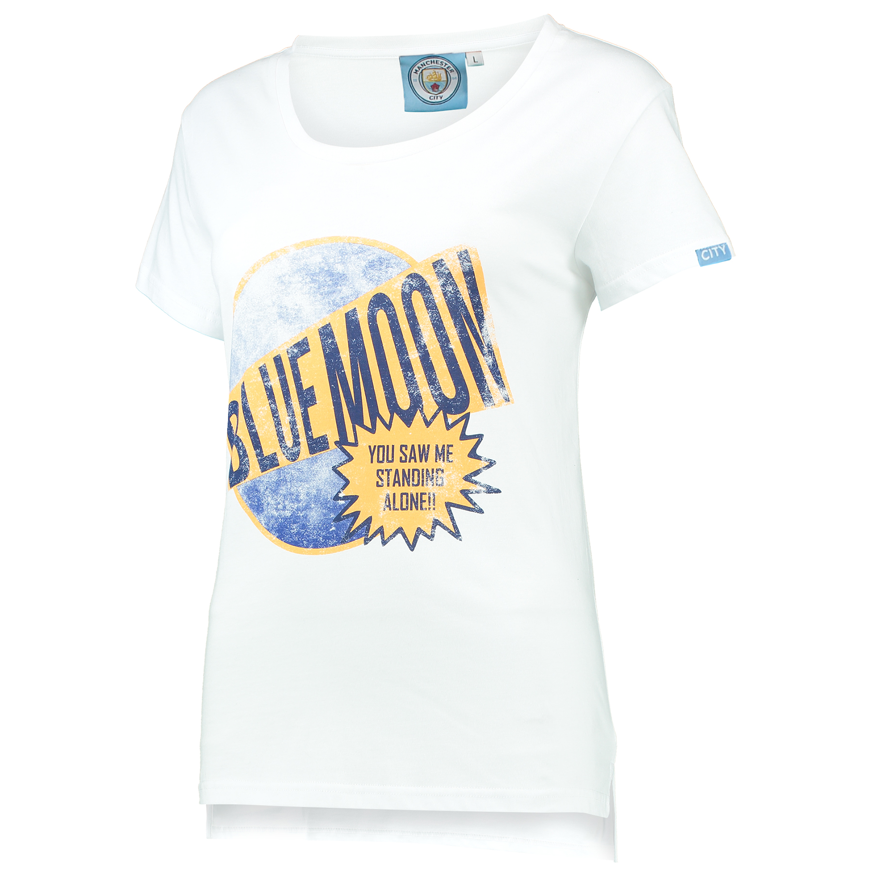 Manchester City Blue Moon T-Shirt - White - Womens