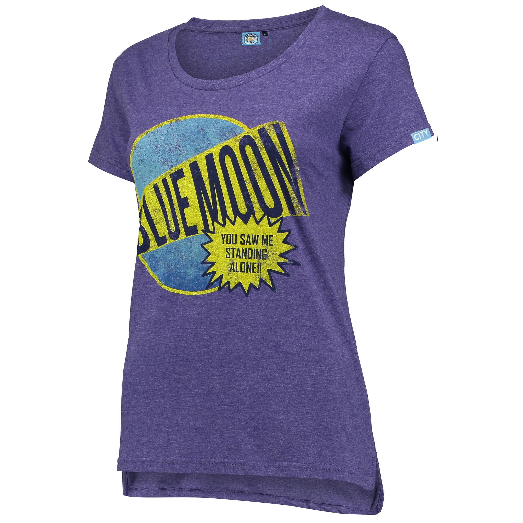 Manchester City Blue Moon T-Shirt - Purple - Womens