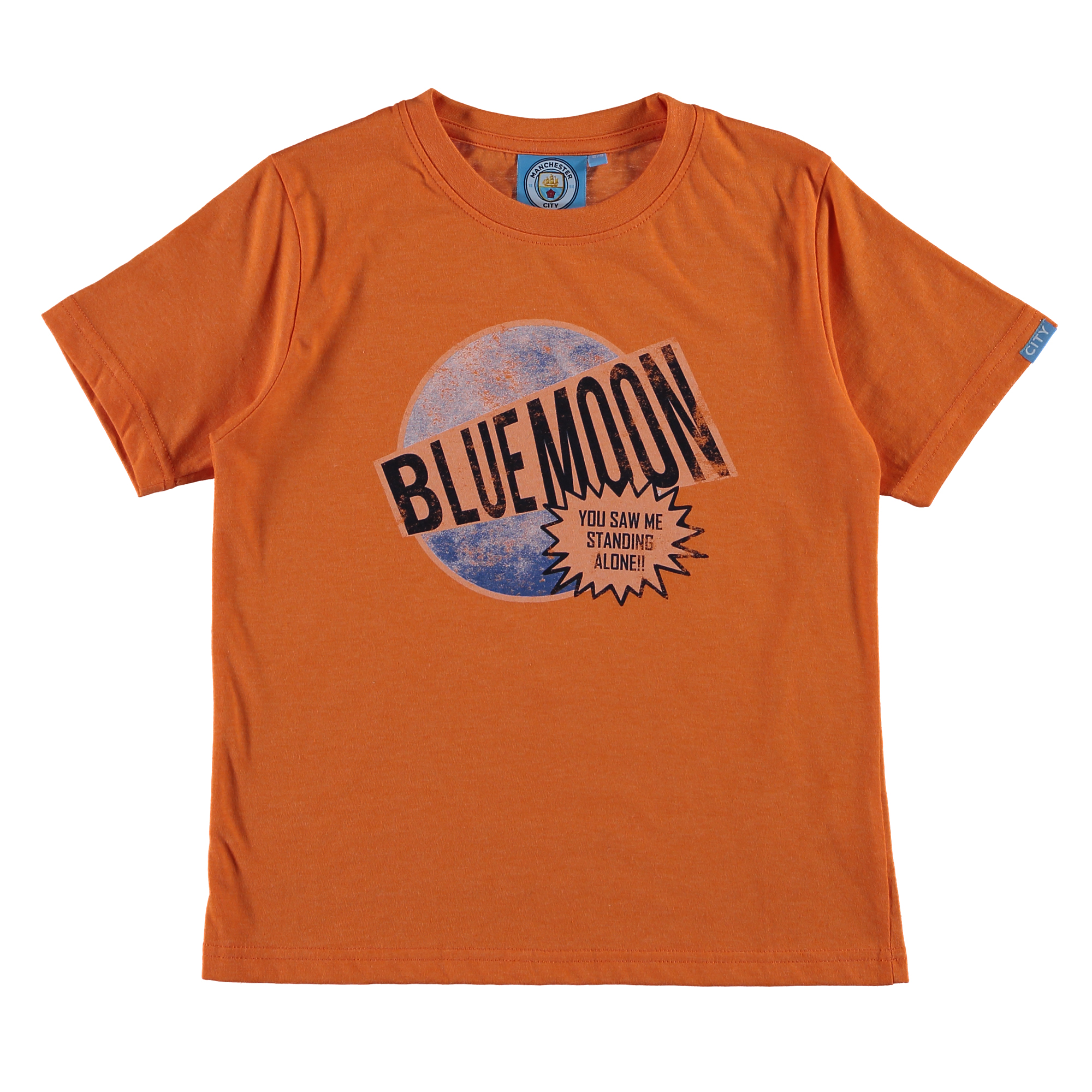 Manchester City Blue Moon T-Shirt - Orange - Junior