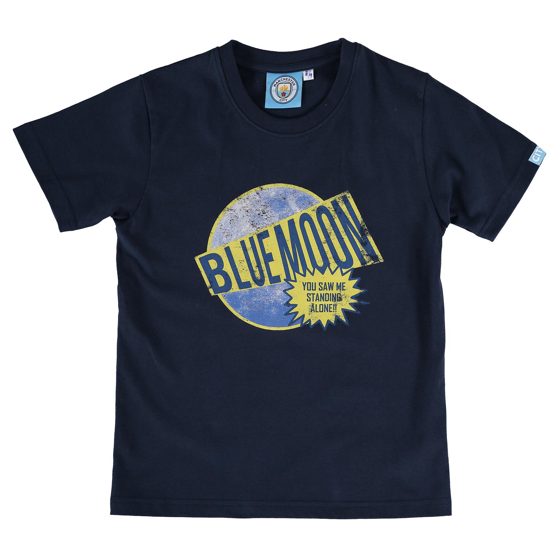 Manchester City Blue Moon T-Shirt - Navy - Junior