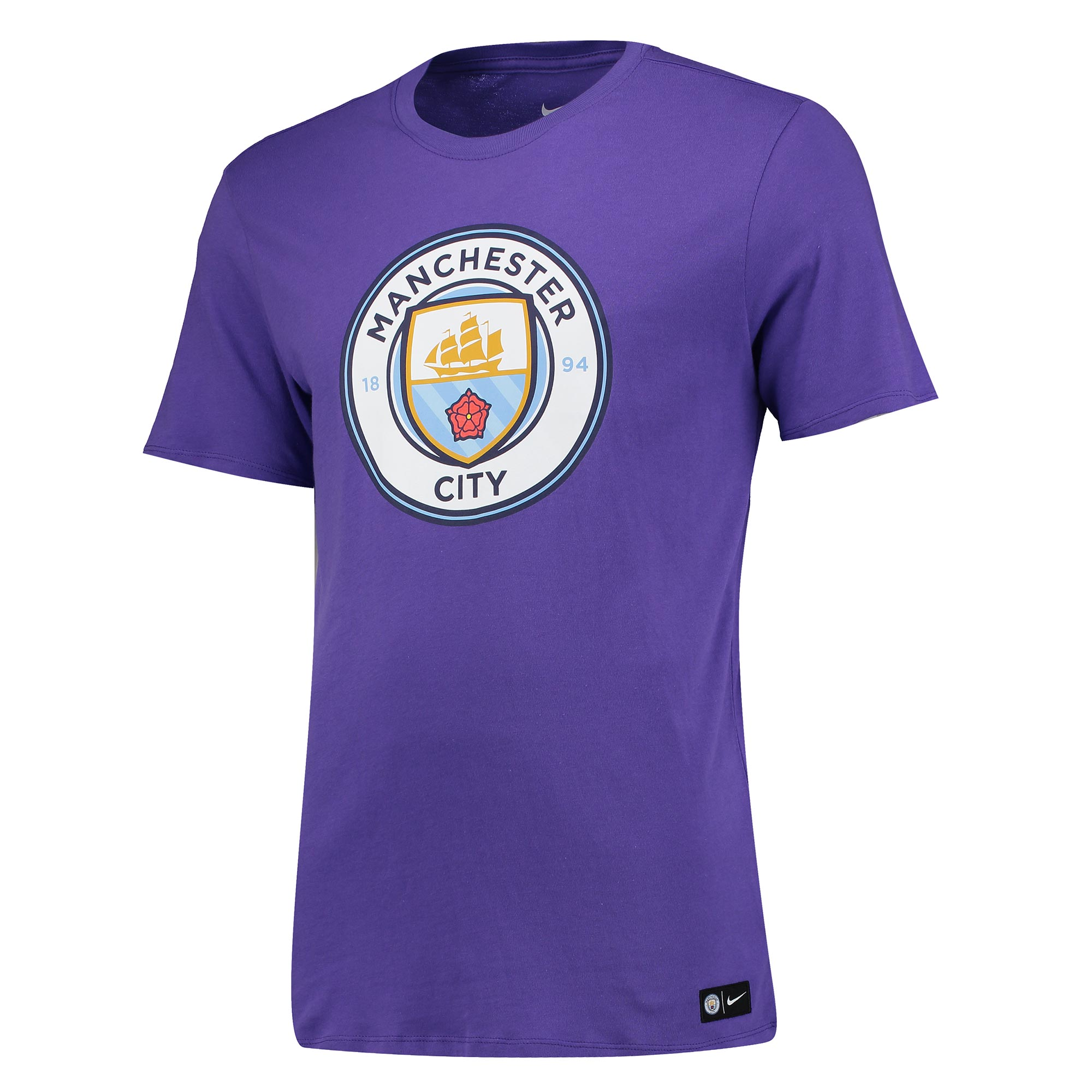 Manchester City Crest T-Shirt - Purple