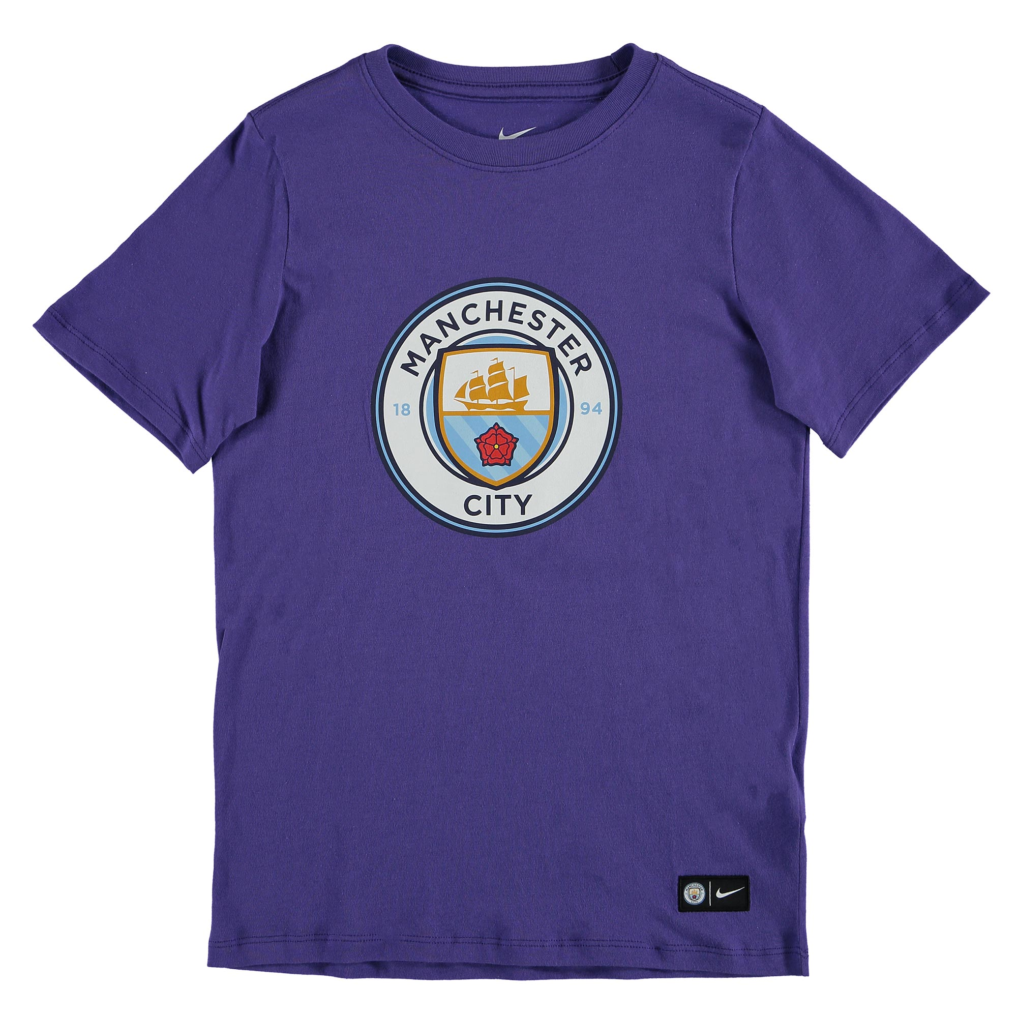 Manchester City Crest T-Shirt - Purple - Kids