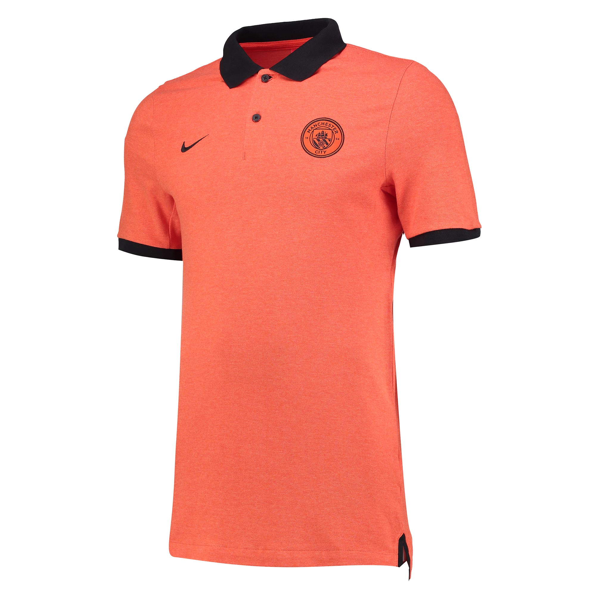 Manchester City Authentic Grand Slam Polo - Orange