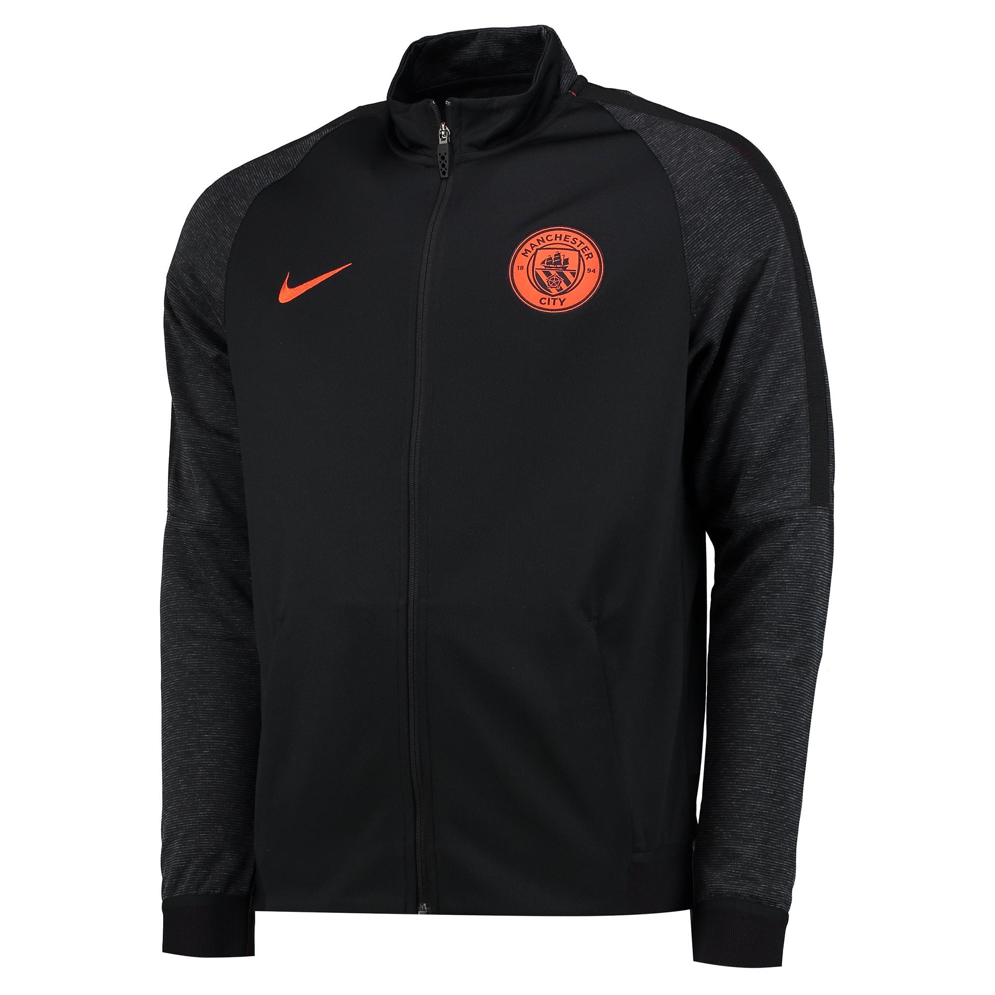 Manchester City Strike Aeroswift Knit Track Jacket - Black