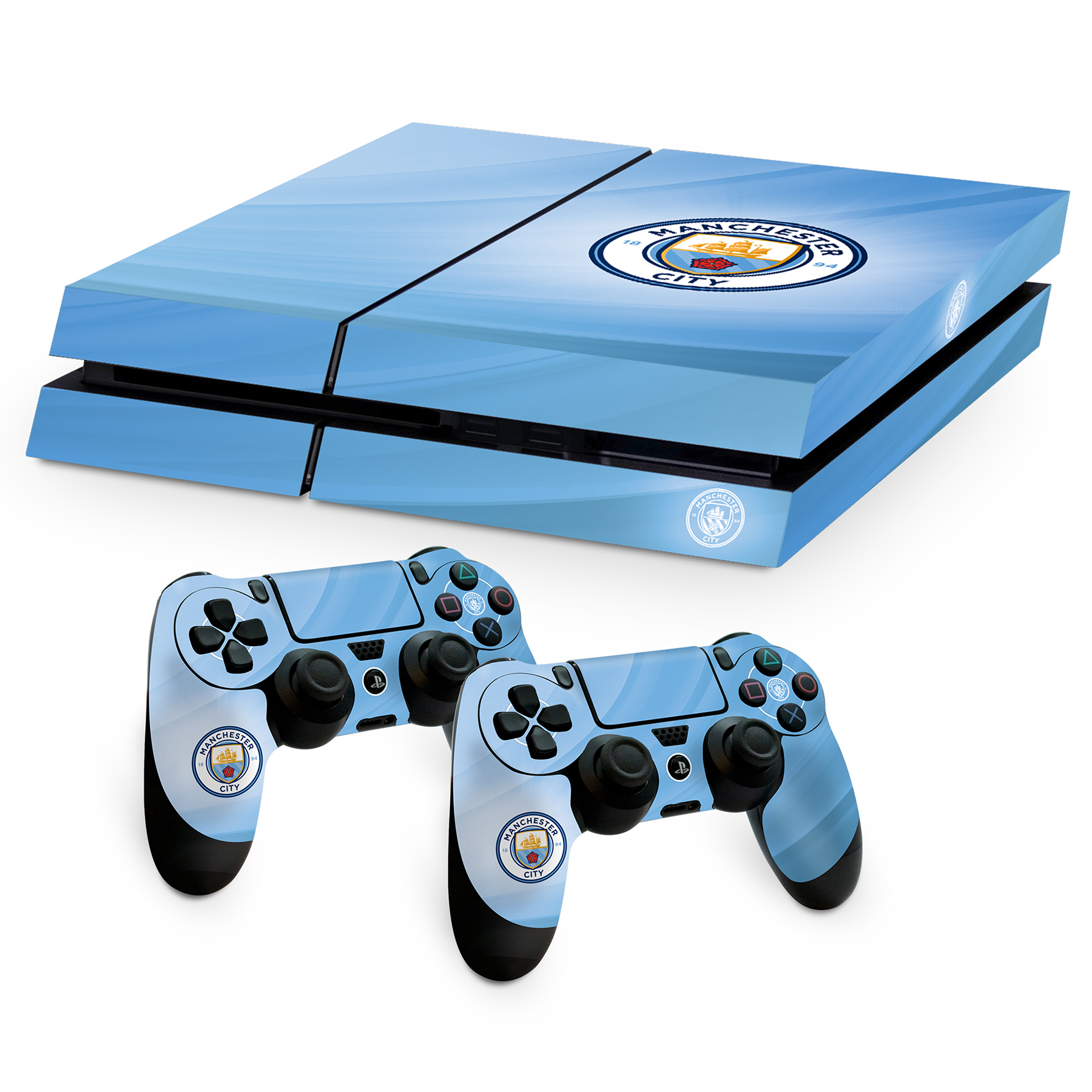 Manchester City Controller and Console Skin Bundle - PS4