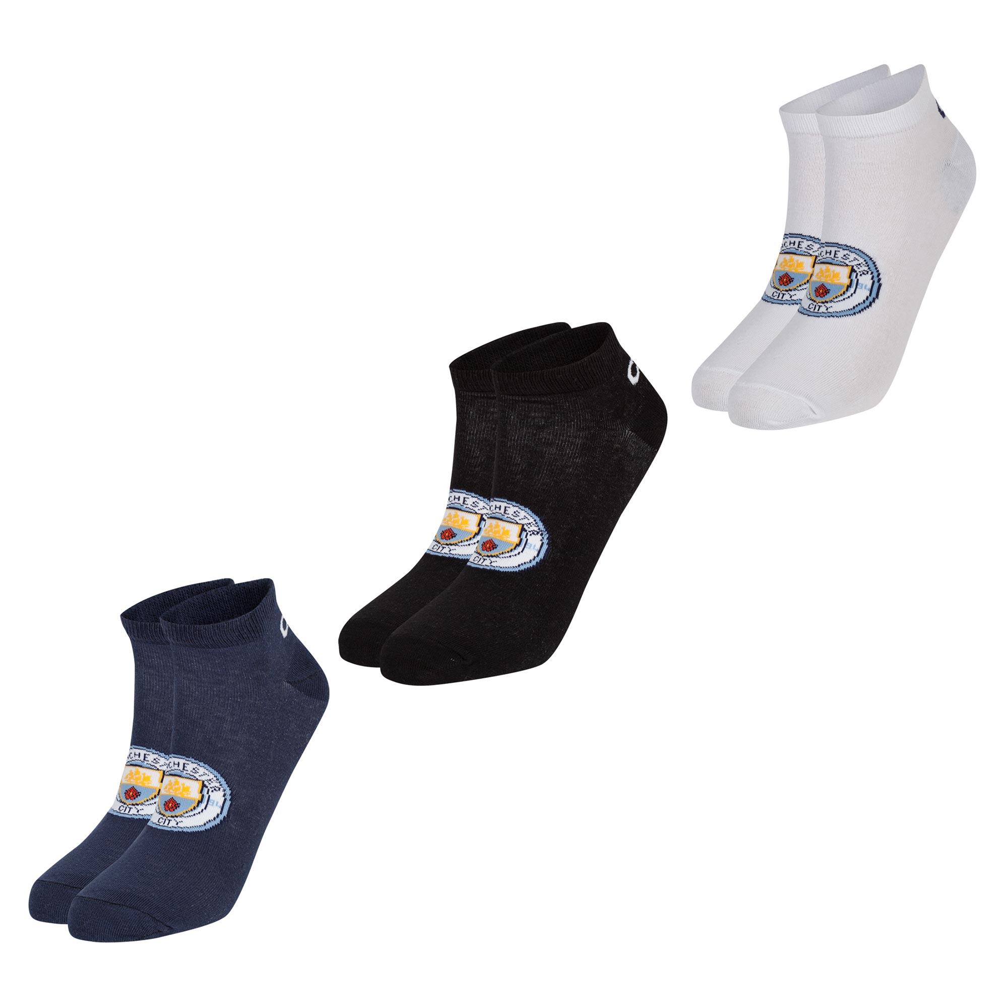 Manchester City 3 Pack Liner Socks