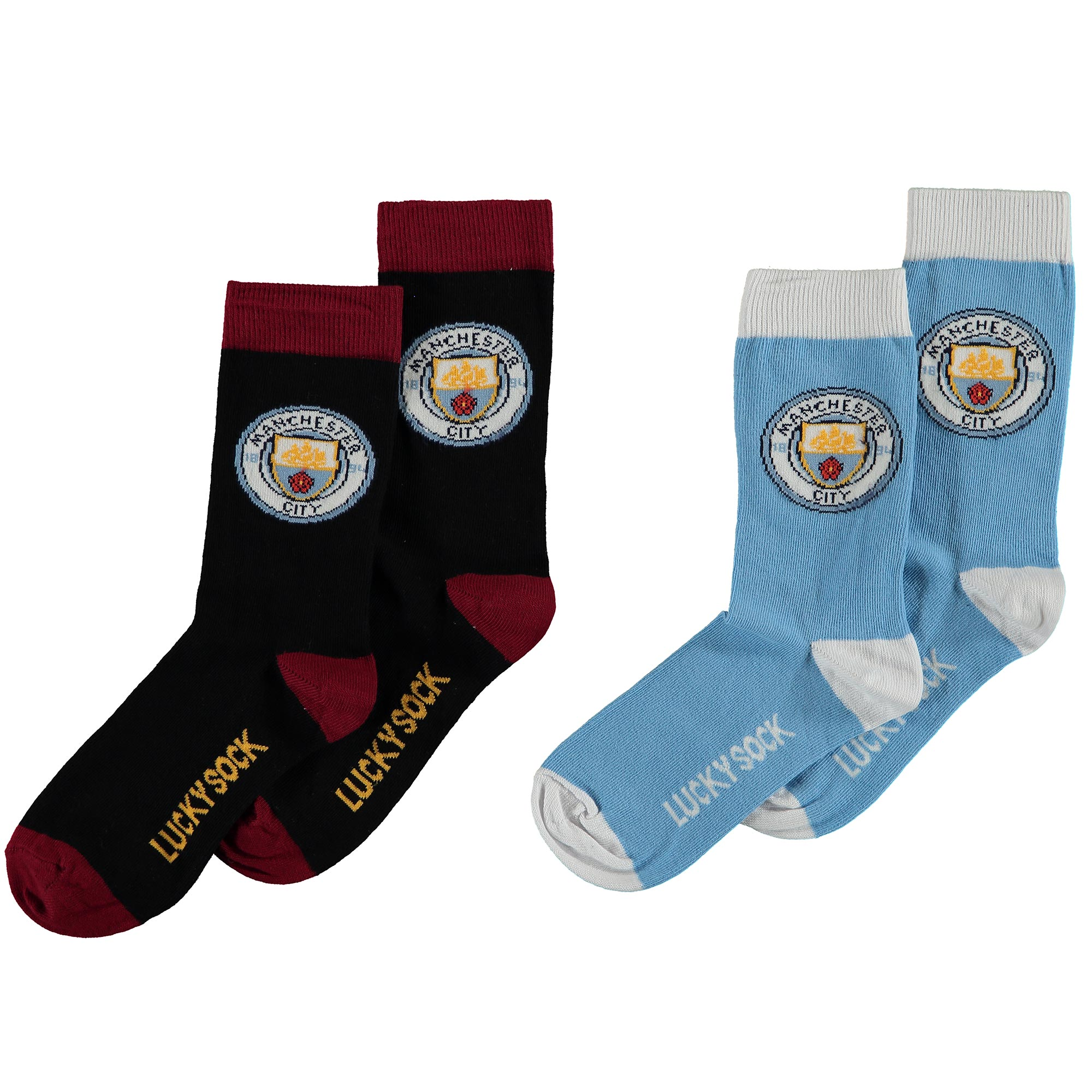 Manchester City Home and Away 2 Pack Socks - Junior