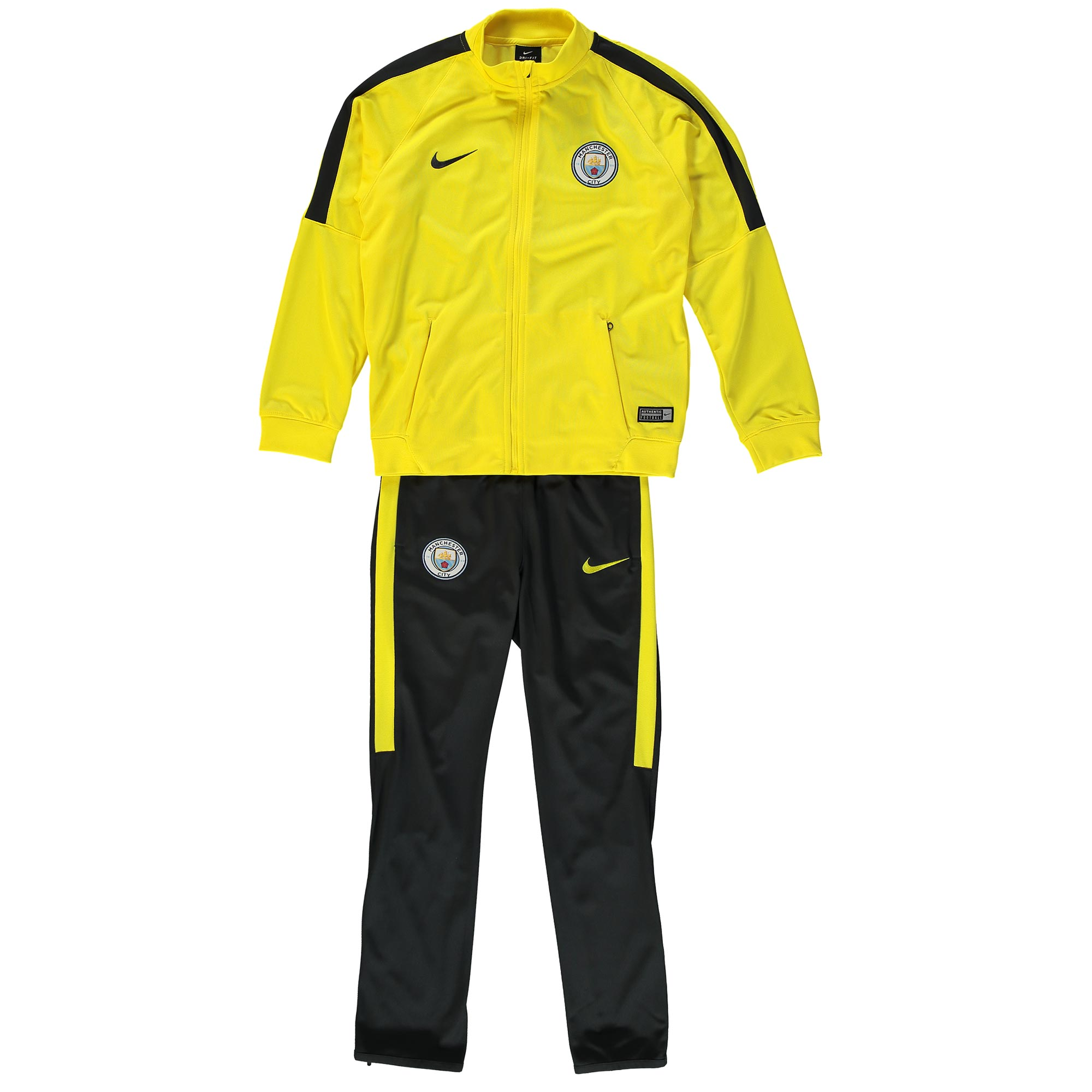 Manchester City Squad Tracksuit - Yellow - Kids