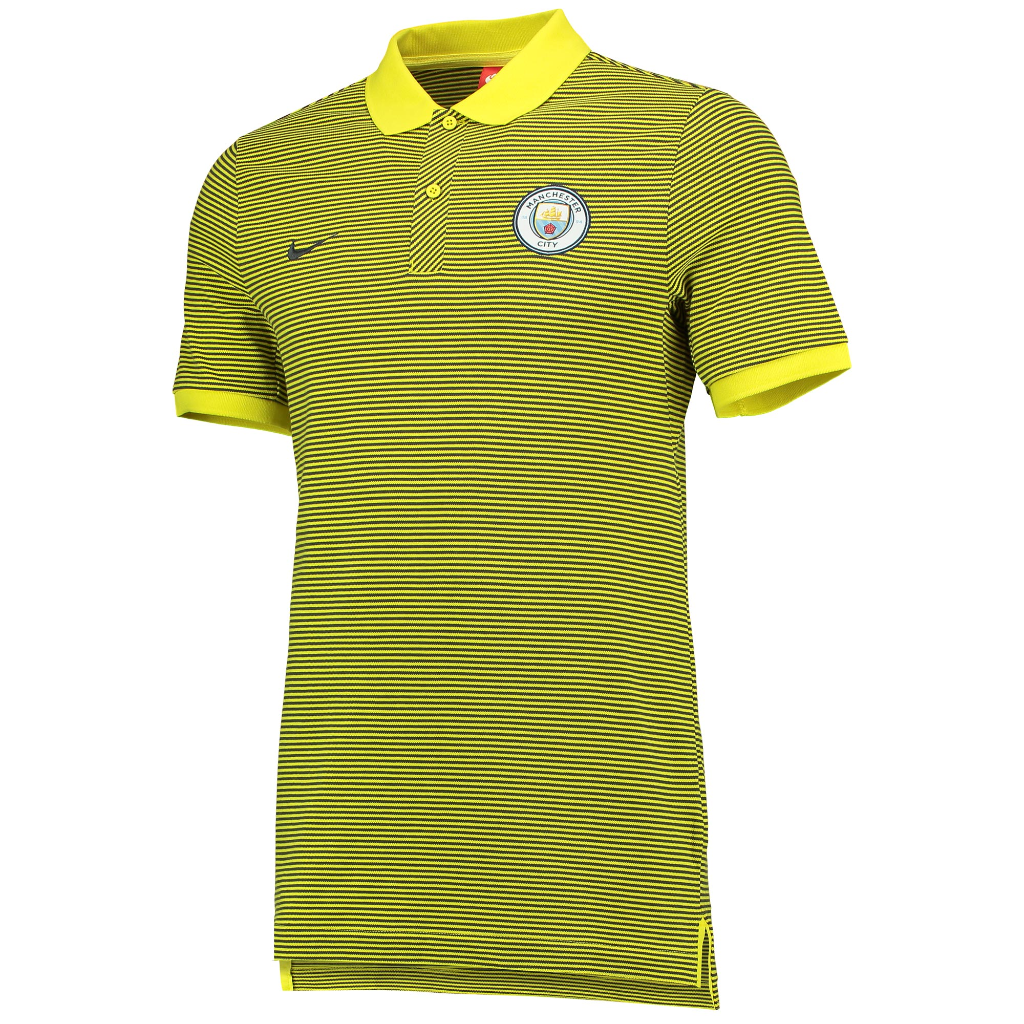 Manchester City Authentic Grand Slam Polo - Yellow