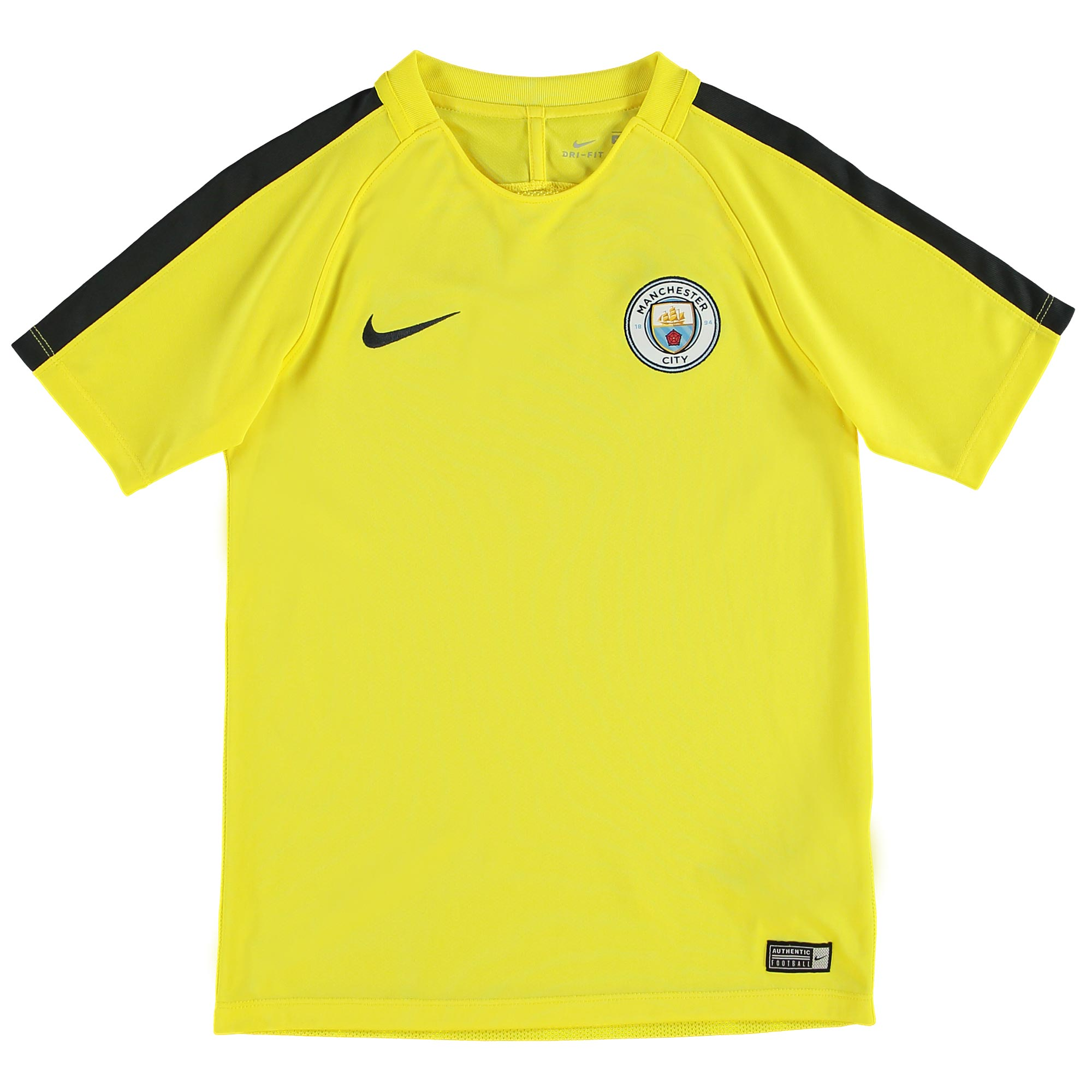 Manchester City Squad Training Top - Yellow - Kids