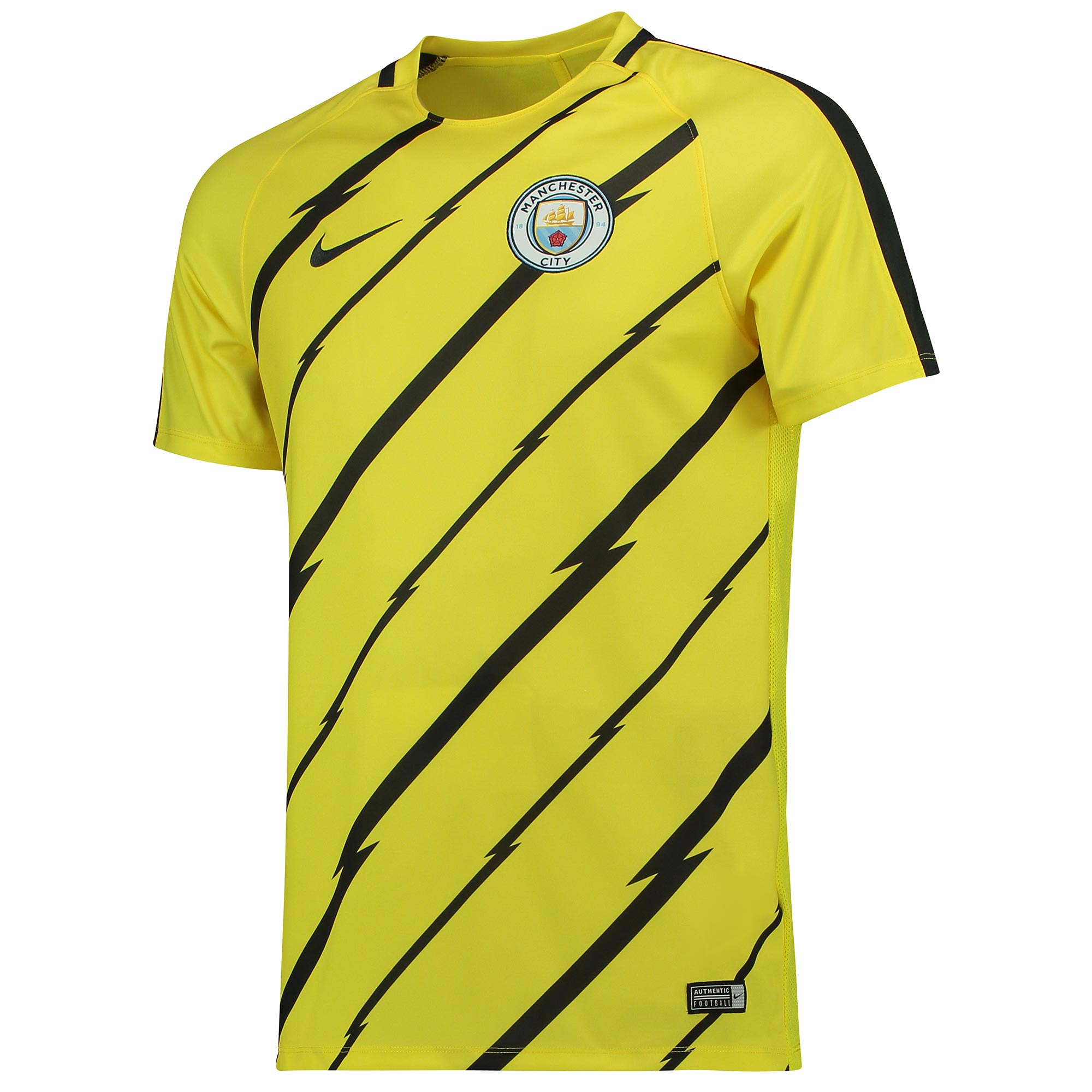 Manchester City Squad Pre Match Top - Yellow