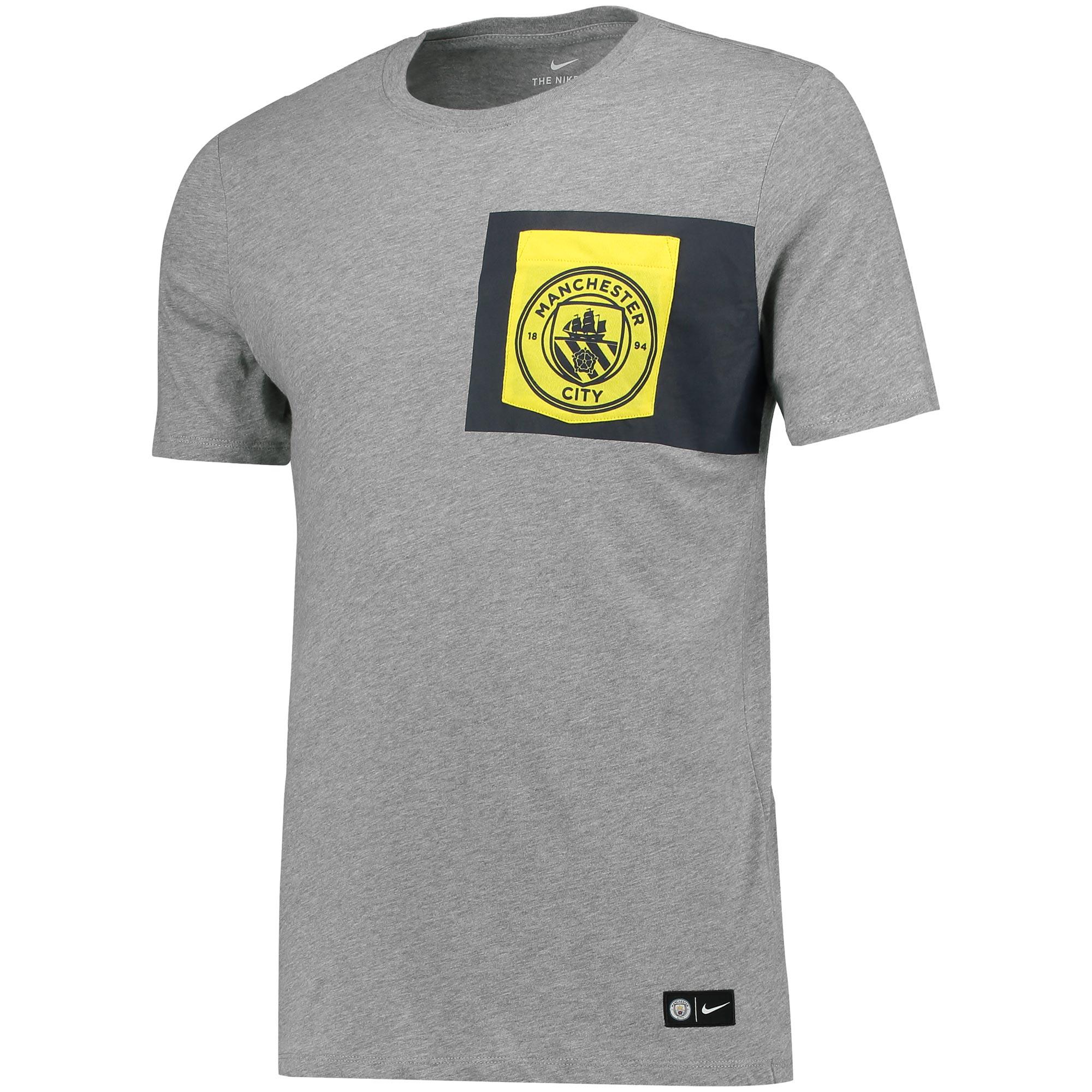 Manchester City Crest T-Shirt - Dk Grey