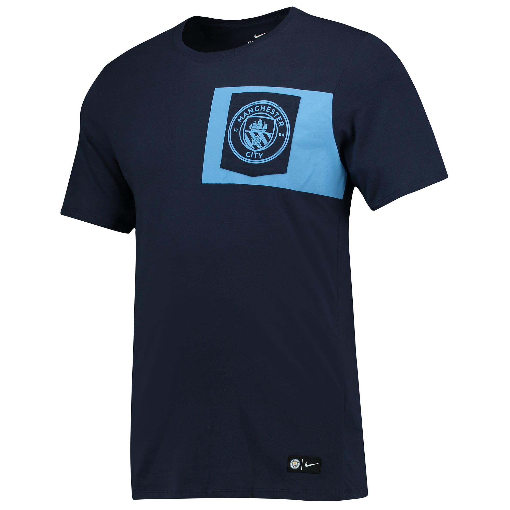 Manchester City Crest T-Shirt - Navy
