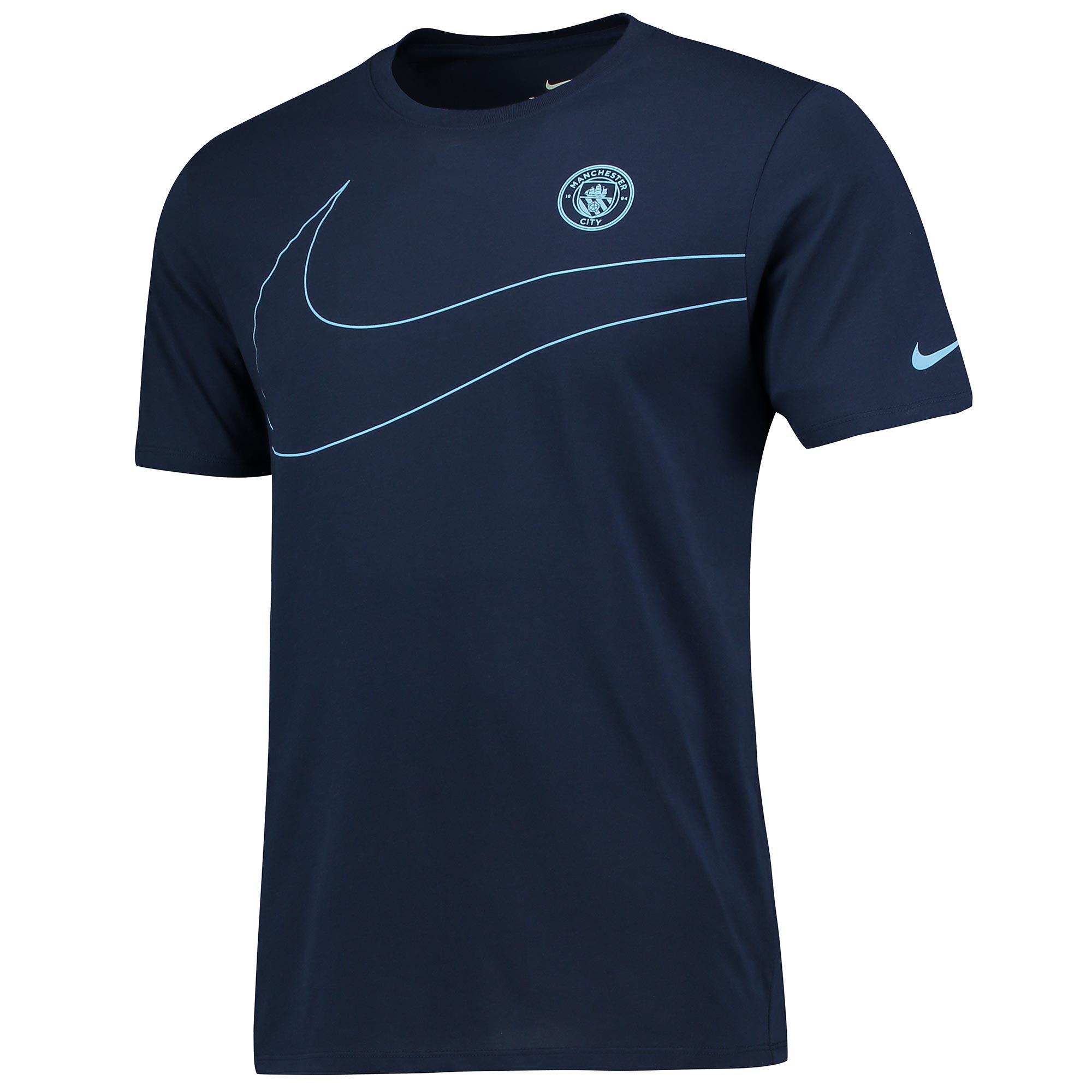 Manchester City Pre Season T-Shirt - Navy