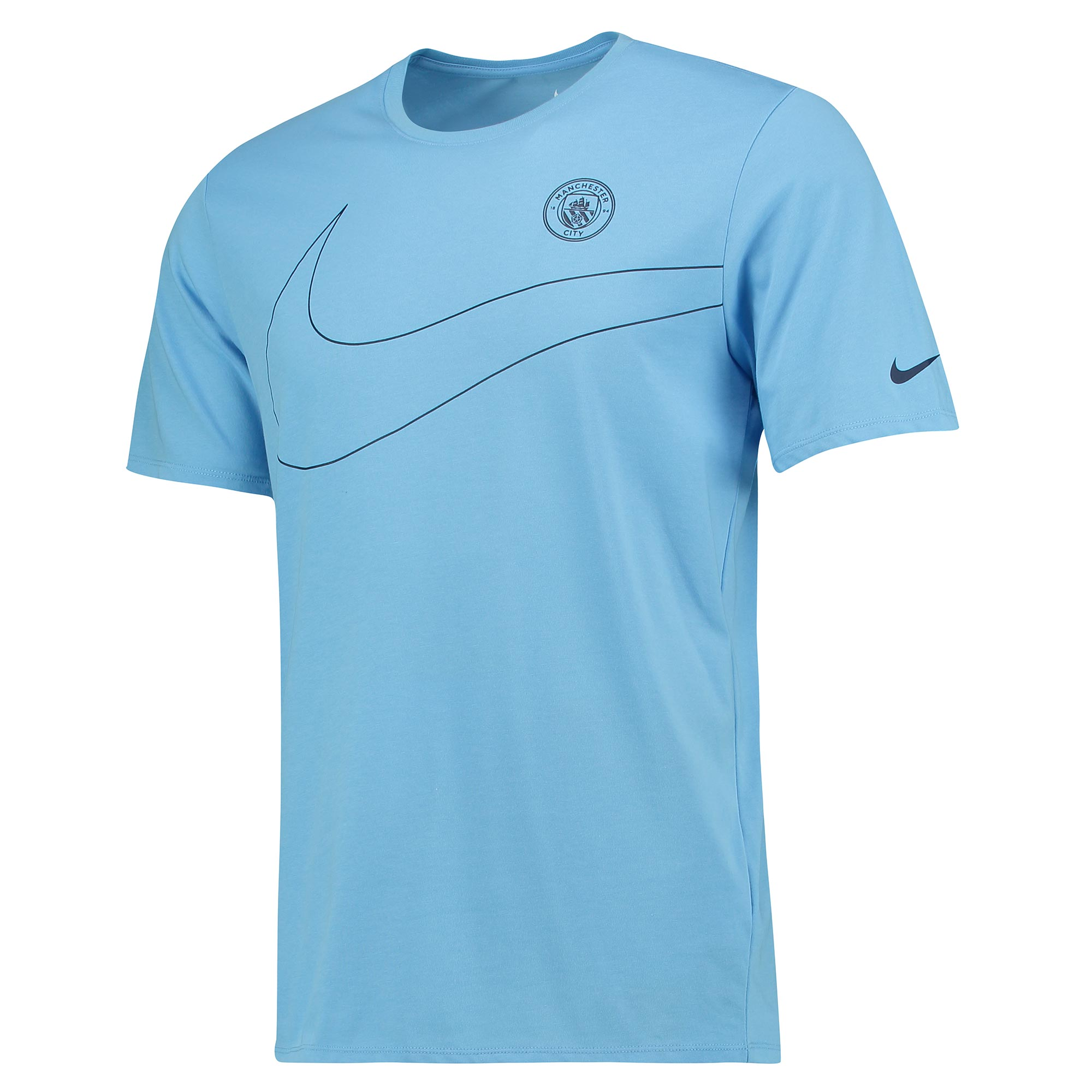 Manchester City Pre Season T-Shirt - Lt Blue