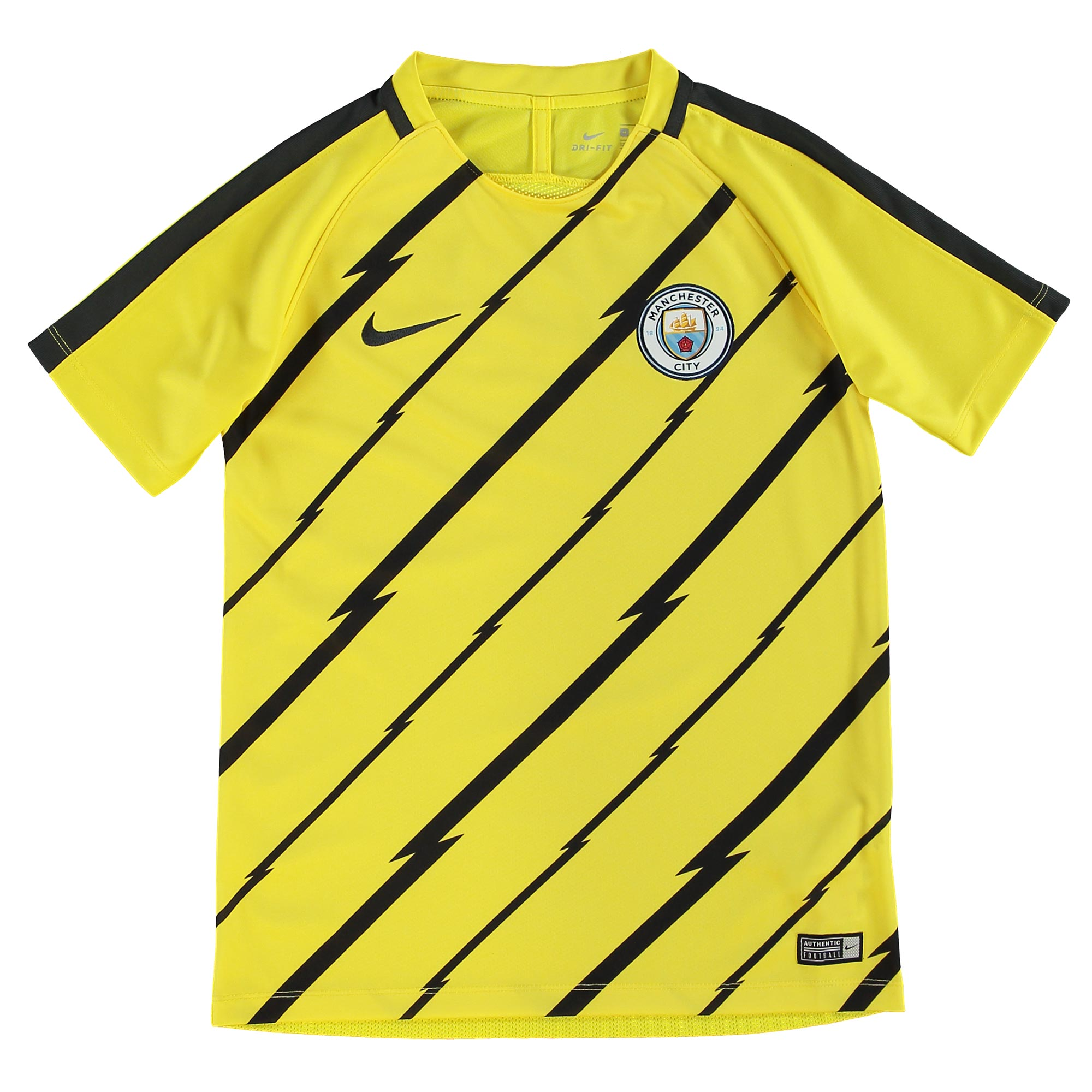 Manchester City Squad Pre Match Top - Yellow - Kids