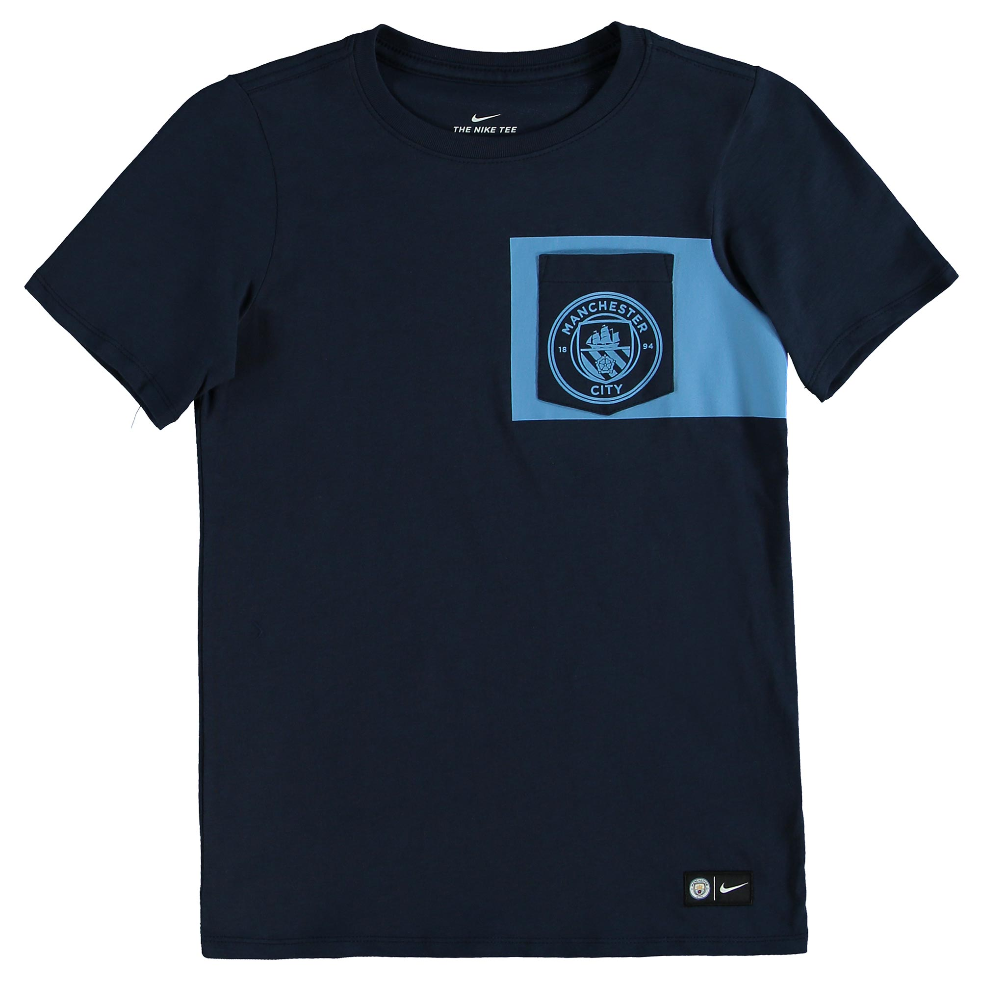 Manchester City Crest T-Shirt - Navy - Kids