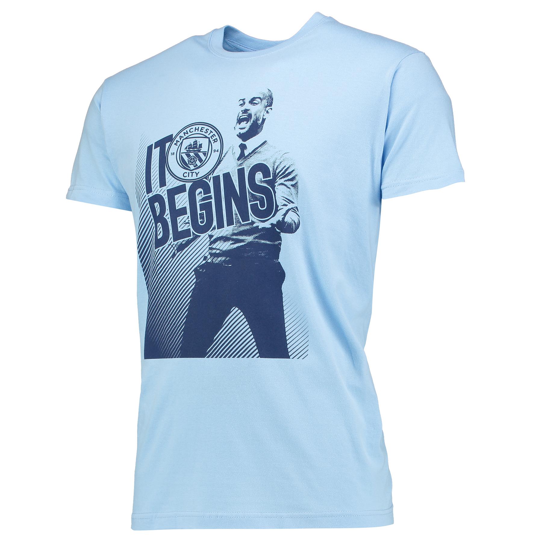 Manchester City Pep T-Shirt - Sky